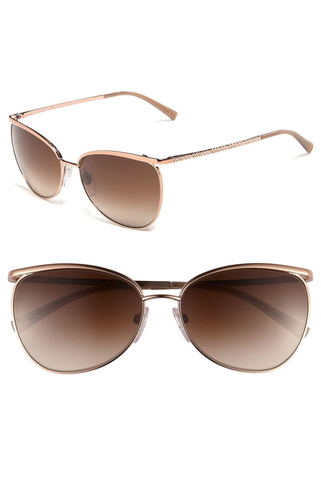 Alternate Image 1 Selected - Burberry 58mm Metal Cat's Eye Sunglasses