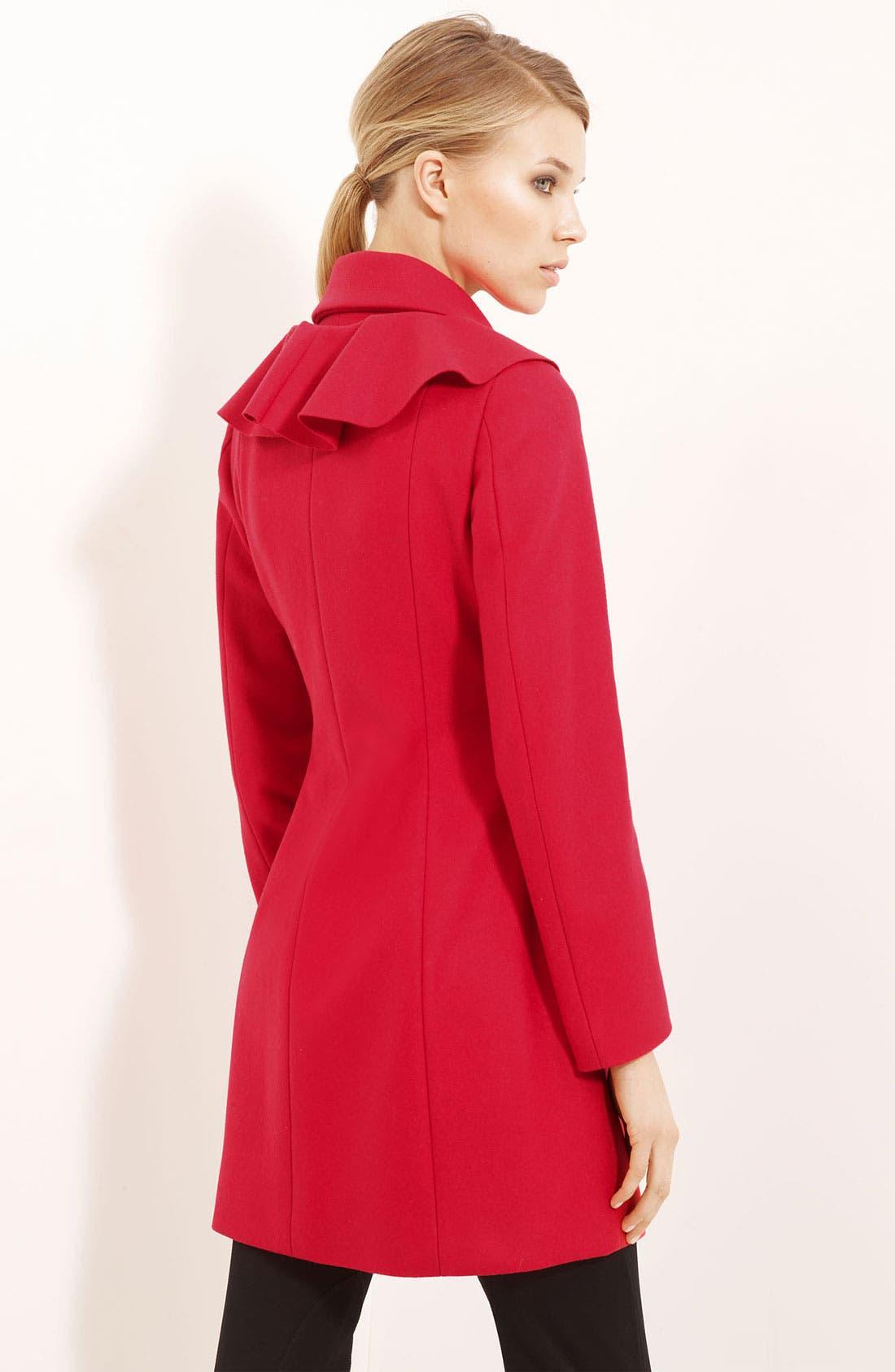 Alternate Image 2  - Moschino Cheap & Chic Detachable Ruffle Coat