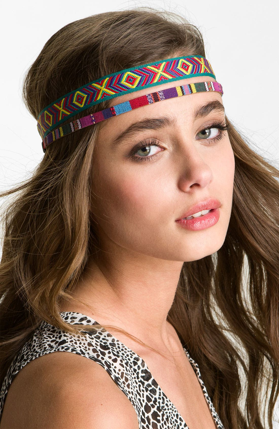 Alternate Image 1 Selected - Carole Woven Ethnic Headbands (Set of 2)