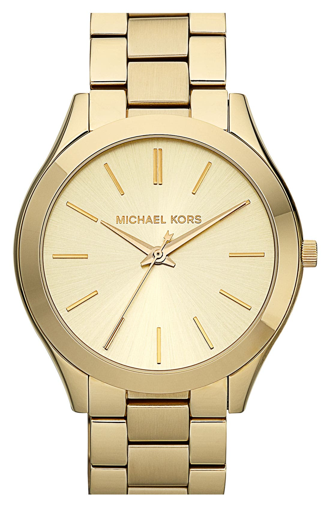 Alternate Image 1 Selected - Michael Kors 'Slim Runway' Bracelet Watch, 42mm
