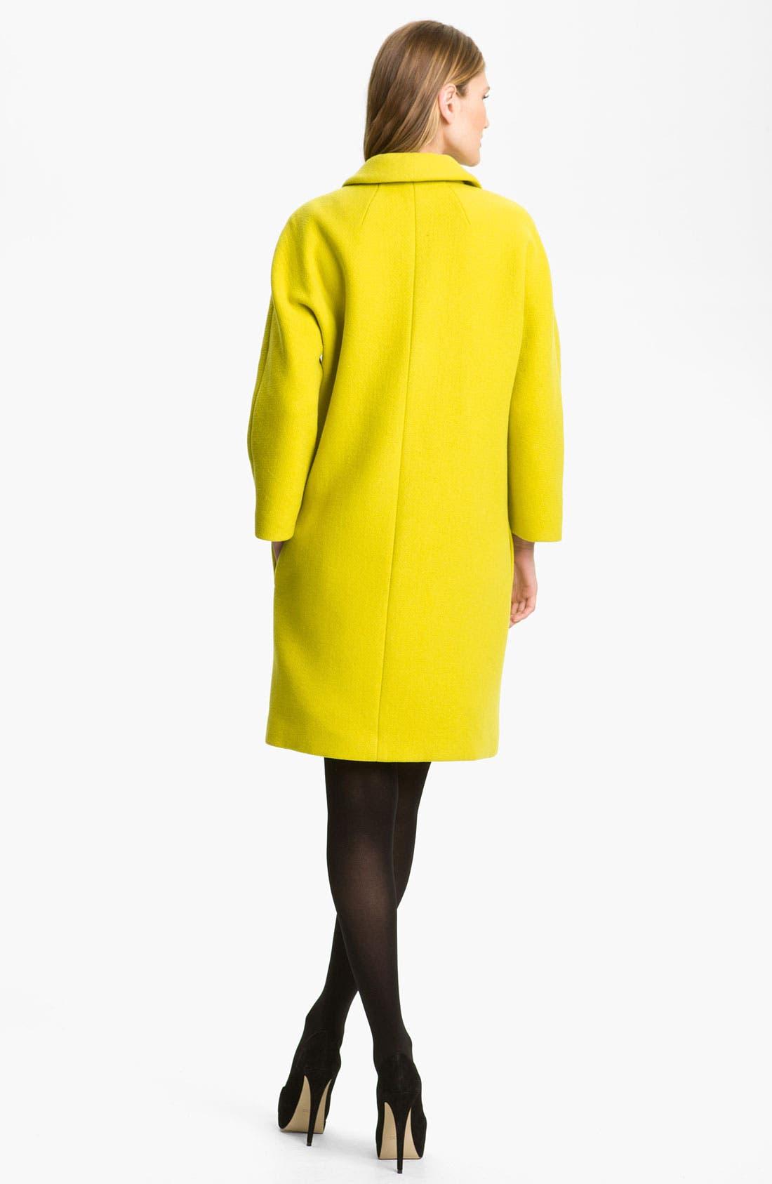 Alternate Image 2  - Milly 'Alexis' Wool Blend Coat