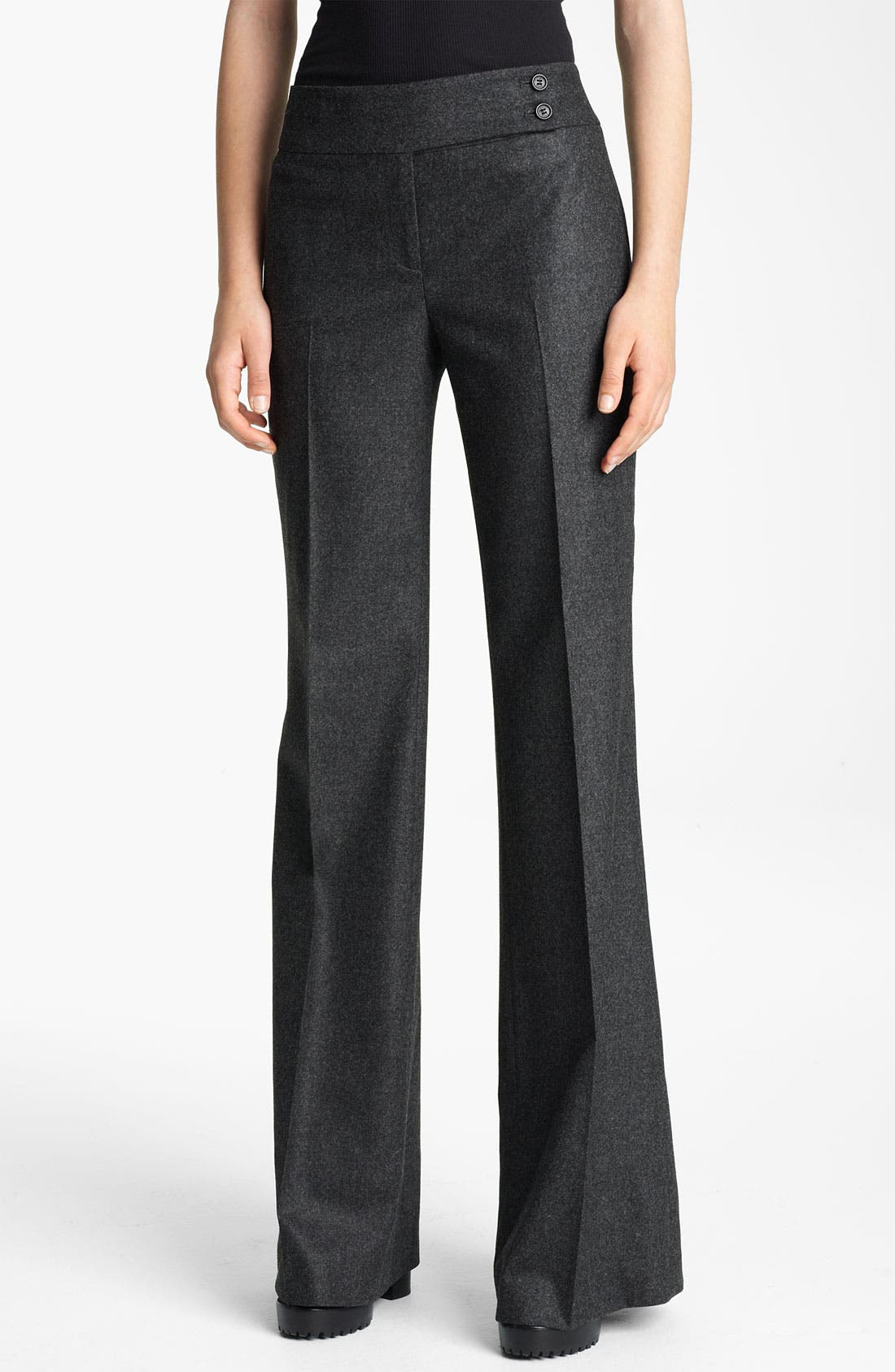 Alternate Image 1 Selected - Michael Kors Flare Leg Stretch Flannel Pants