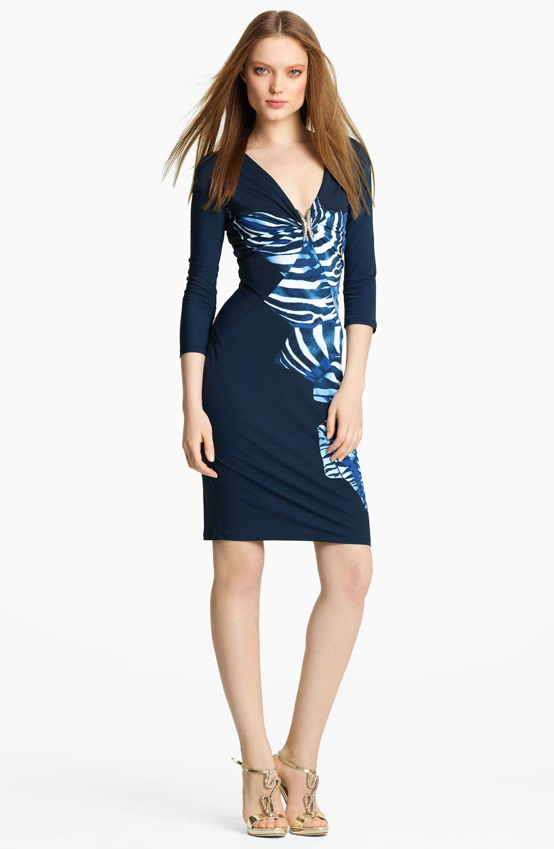 Alternate Image 1 Selected - Roberto Cavalli Zebra Print Dress