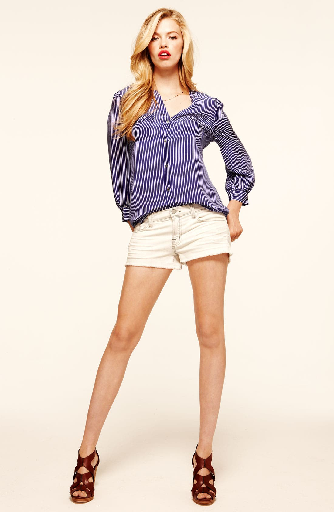 Alternate Image 2  - Joie 'Clarita' Stripe Silk Blouse