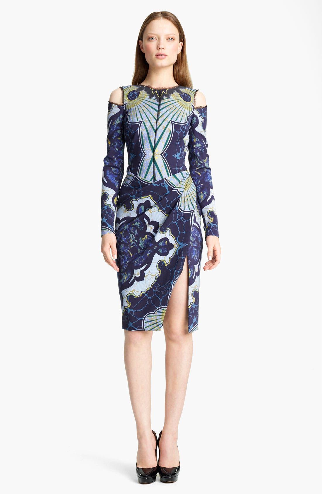 Alternate Image 1 Selected - Emilio Pucci Cutout Shoulder Stretch Wool Dress
