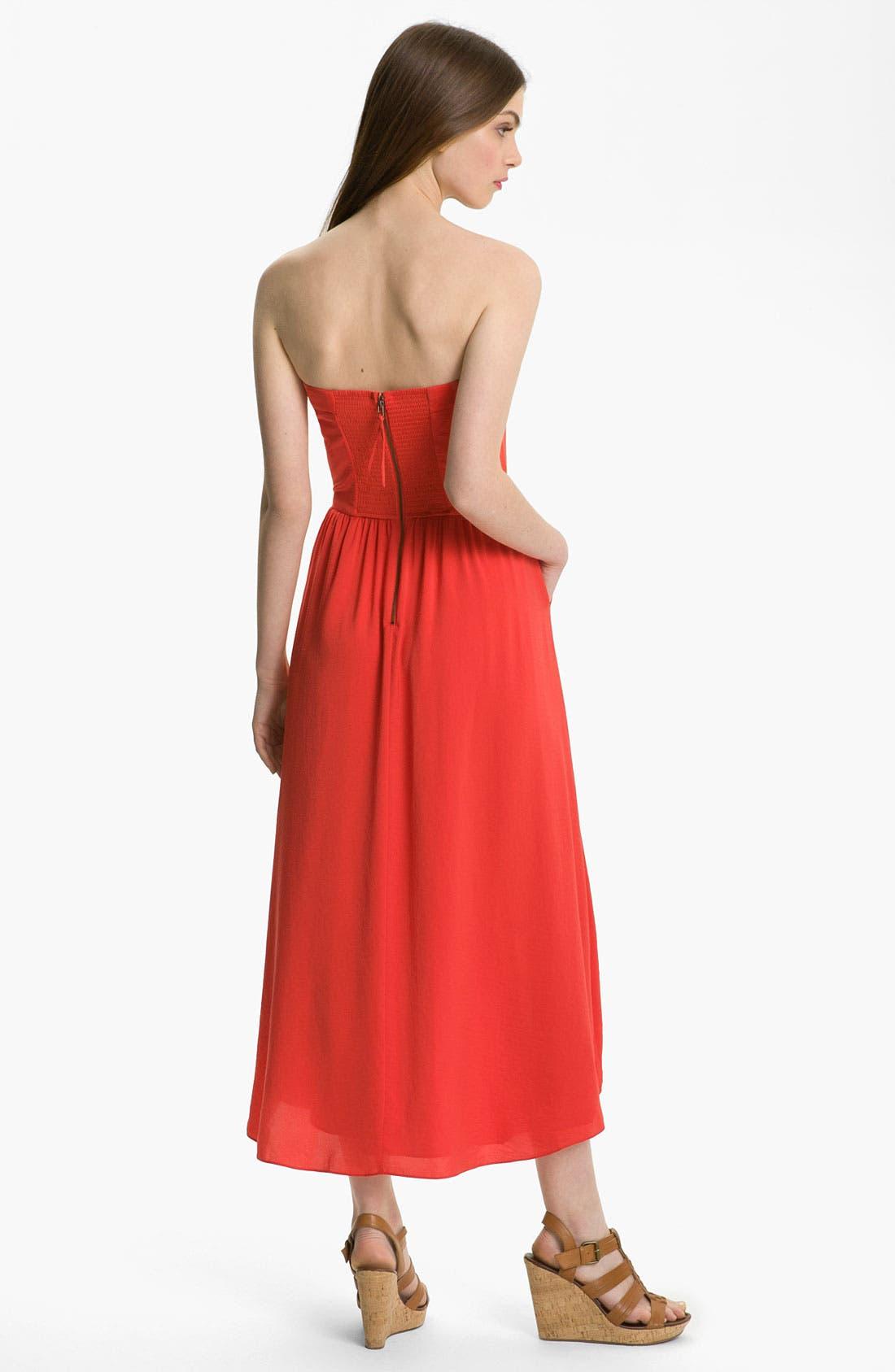 Alternate Image 2  - Rebecca Taylor Strapless Dress