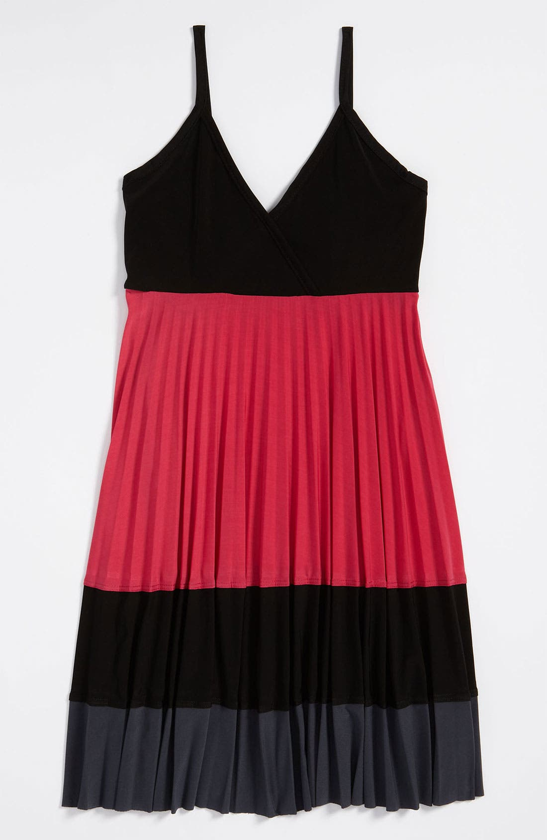 Alternate Image 1 Selected - Un Deux Trois Colorblock Dress (Big Girls)