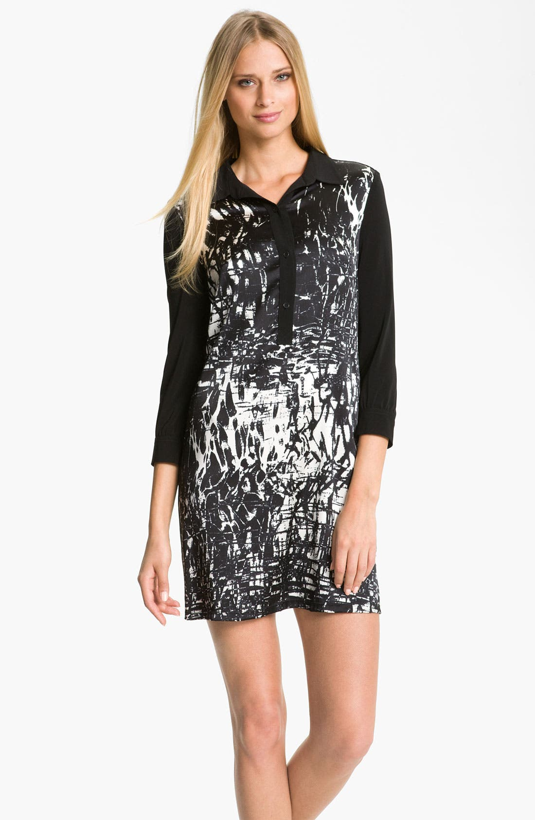 Alternate Image 1 Selected - Suzi Chin for Maggy Boutique Print Jersey Shirtdress