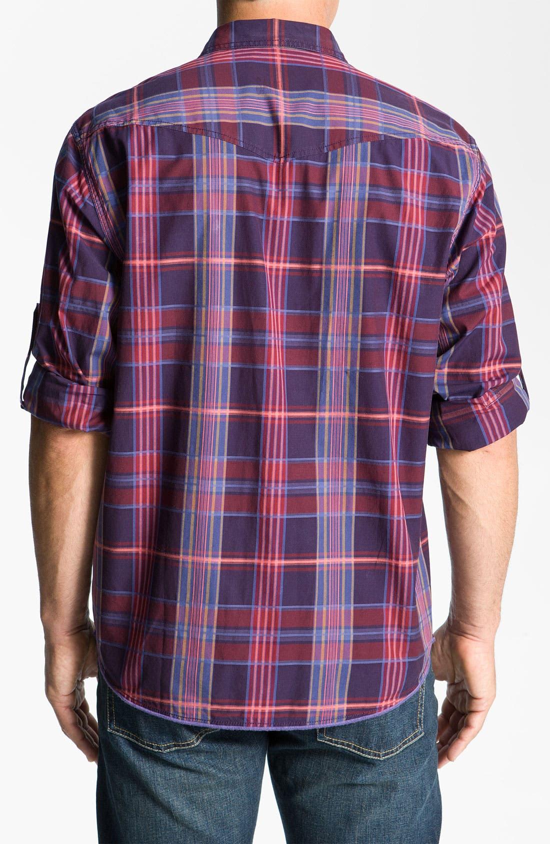 Alternate Image 2  - Tommy Bahama Denim 'Pagoda' Plaid Sport Shirt