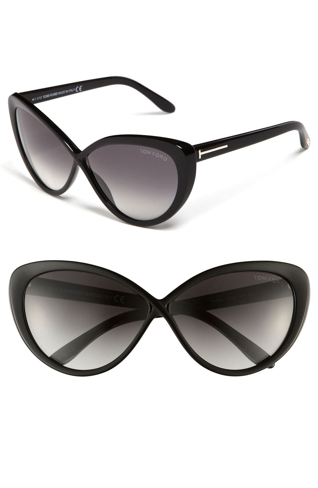 Alternate Image 1 Selected - Tom Ford 'Madison' 63mm Retro Sunglasses