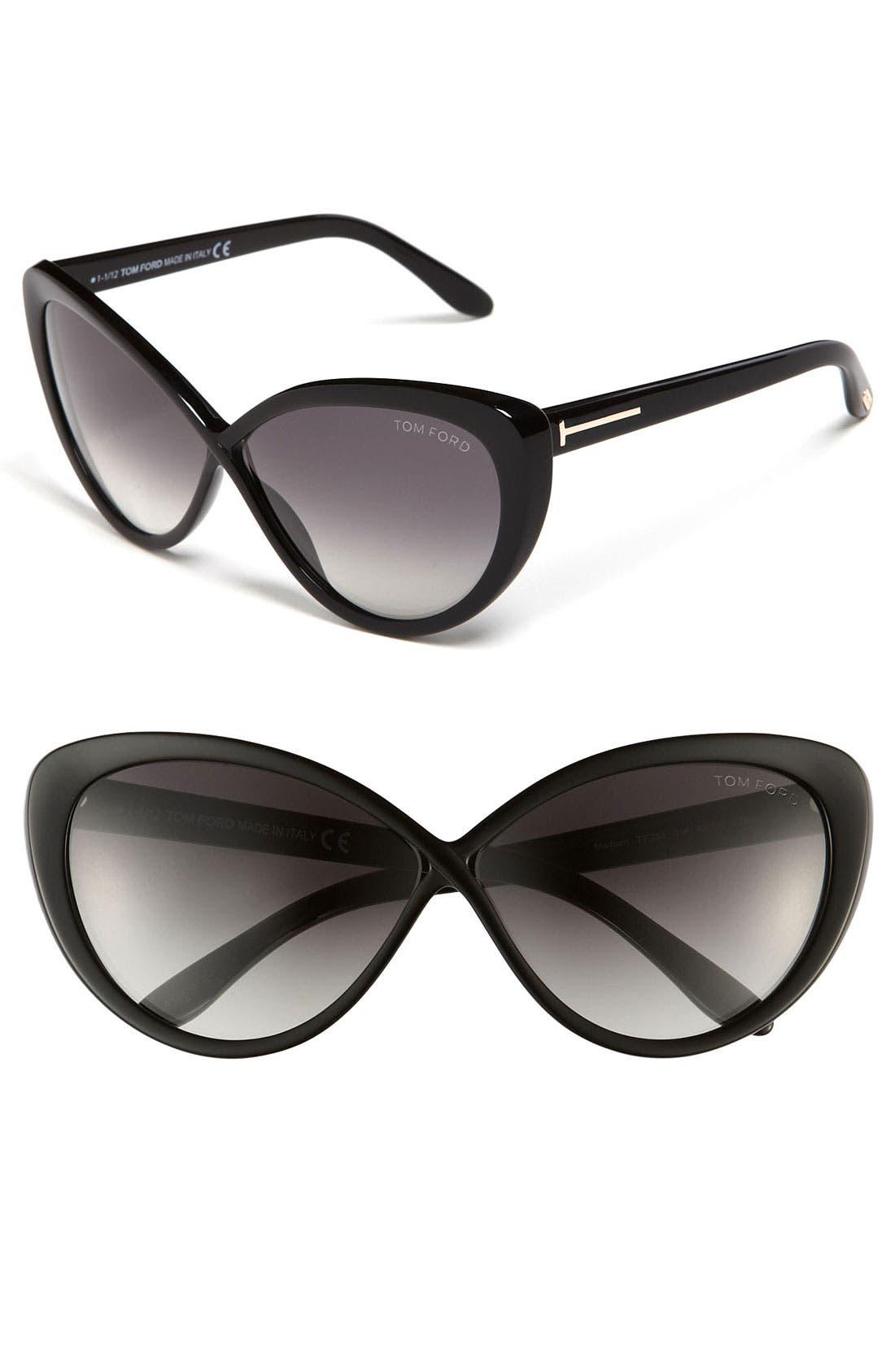 Alternate Image 1 Selected - Tom Ford 'Madison' 63mm Retro Sunglasses