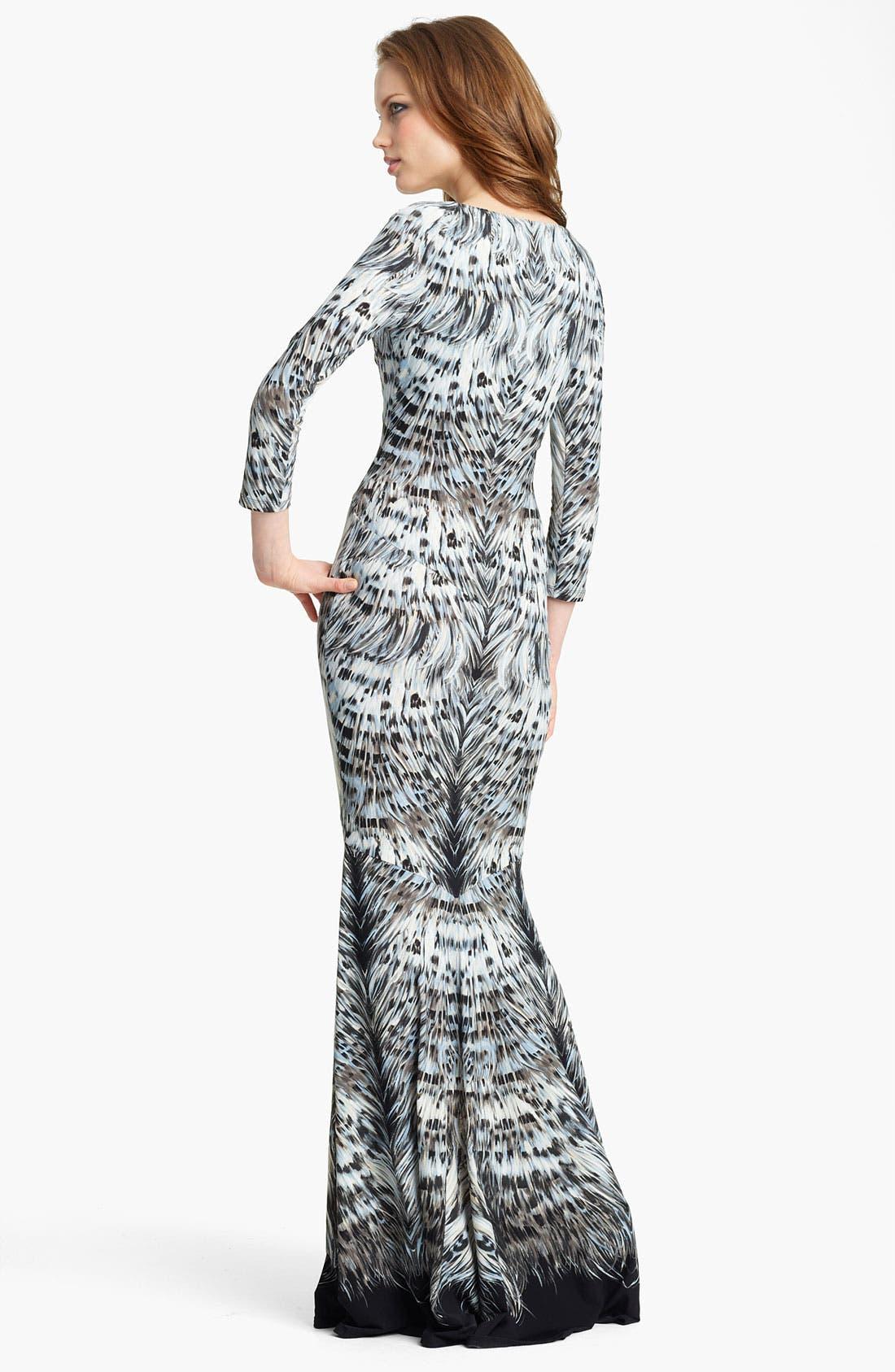 Alternate Image 2  - Roberto Cavalli Print Jersey Fishtail Gown