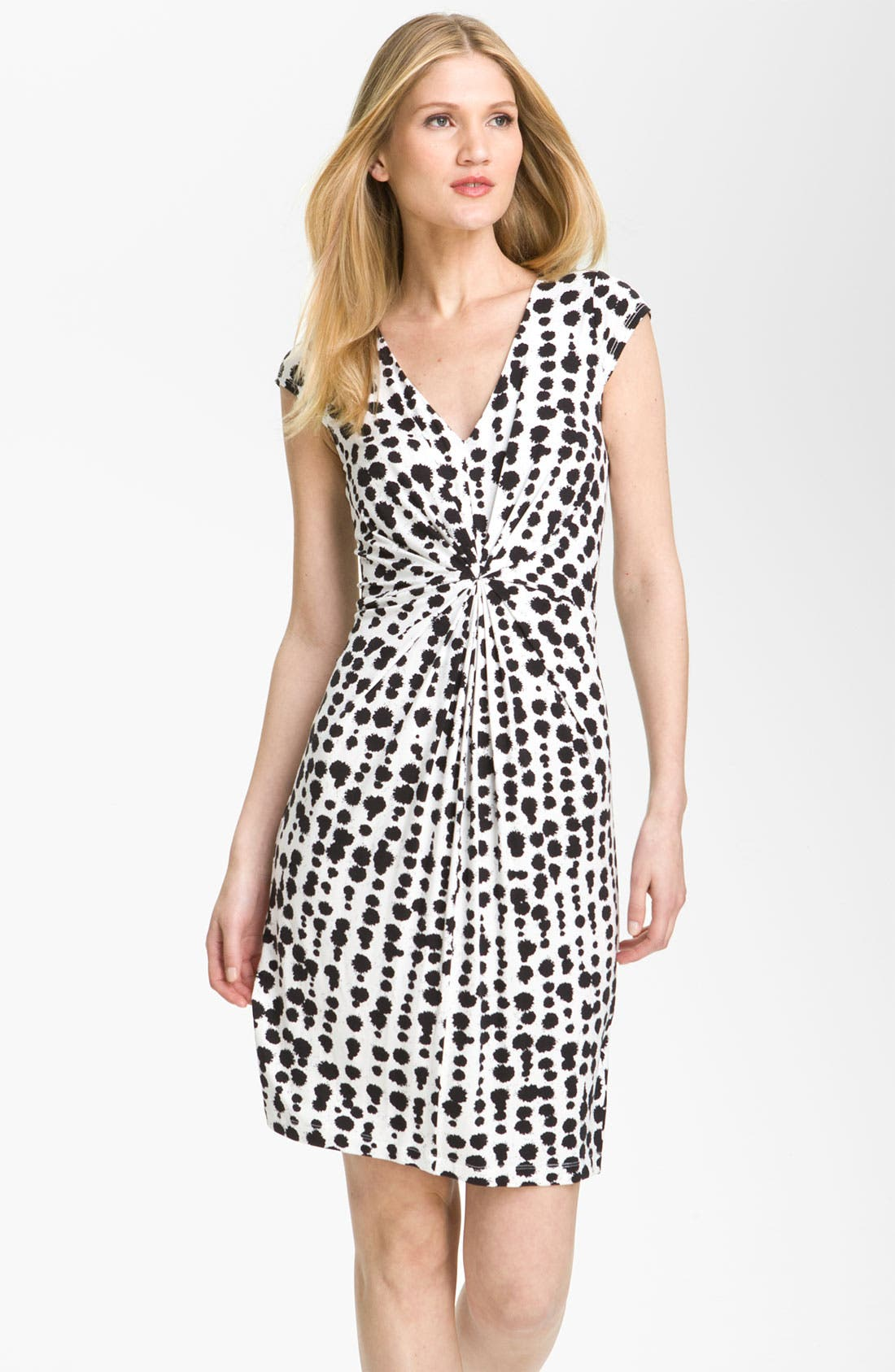 Main Image - Karen Kane Tucked V-Neck Dress