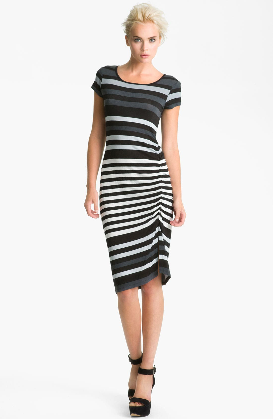 Alternate Image 1  - Felicity & Coco Stripe Shirred Jersey T-Shirt Dress (Nordstrom Exclusive)