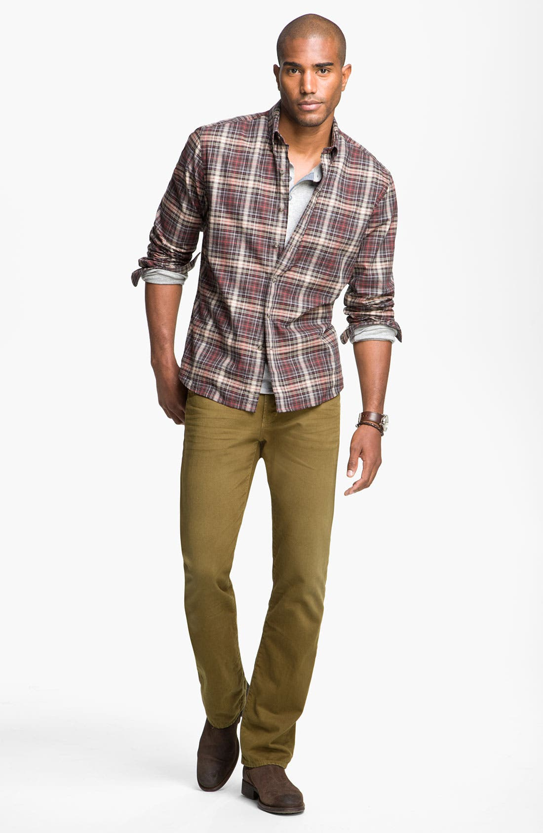 Alternate Image 4  - Cutter & Buck 'McCrea' Plaid Woven Shirt (Big & Tall)