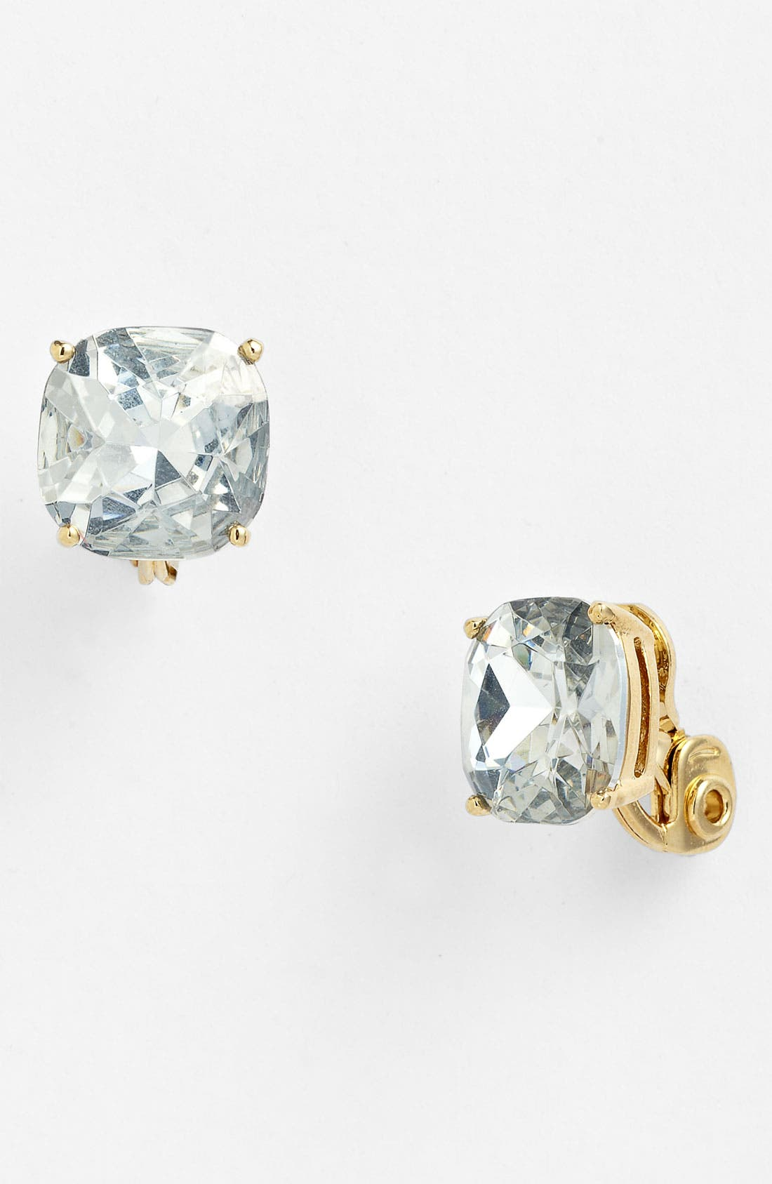 Alternate Image 1 Selected - kate spade new york crystal stud clip earrings