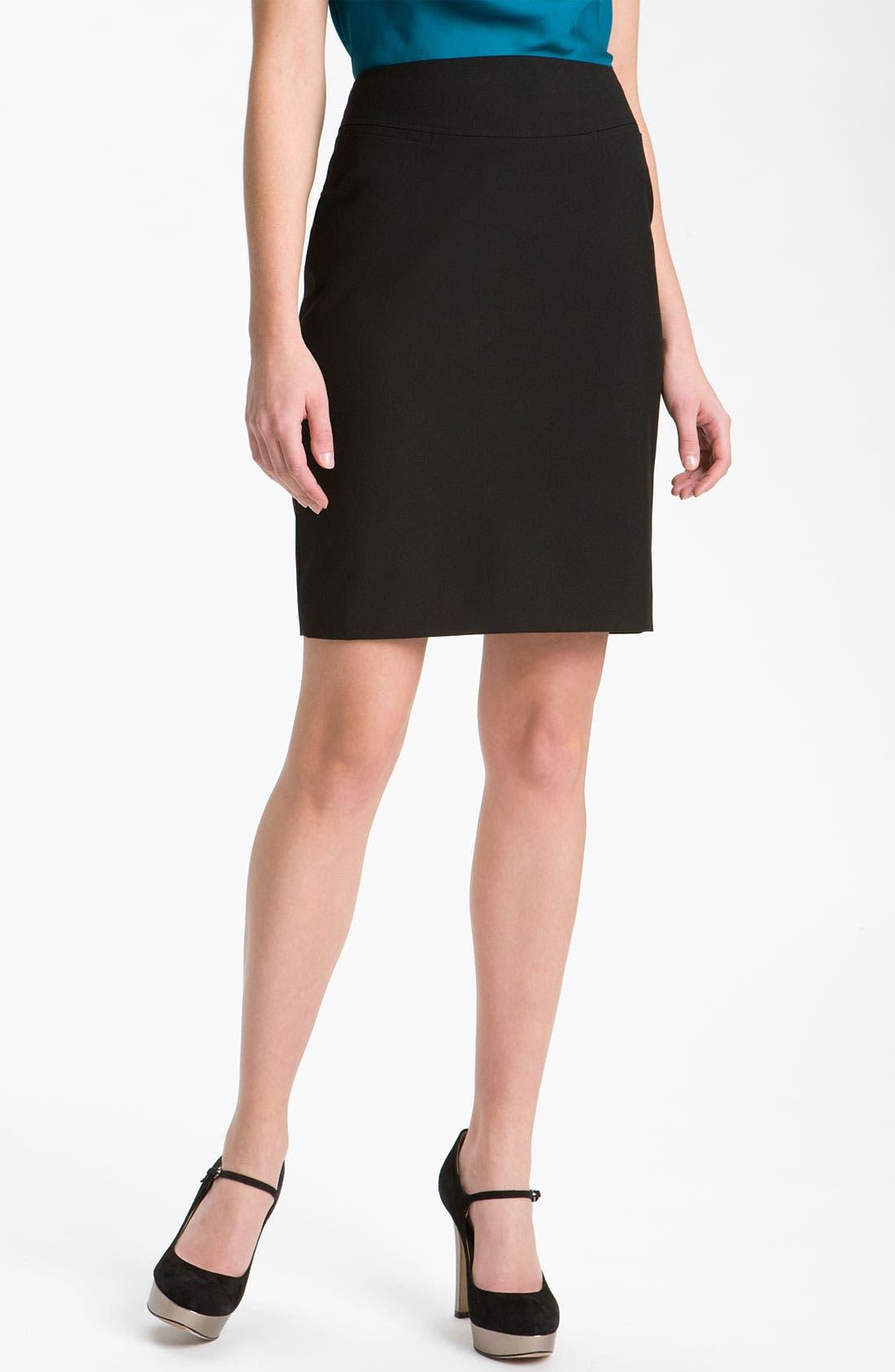 Alternate Image 1 Selected - Halogen® Welt Pocket Skirt