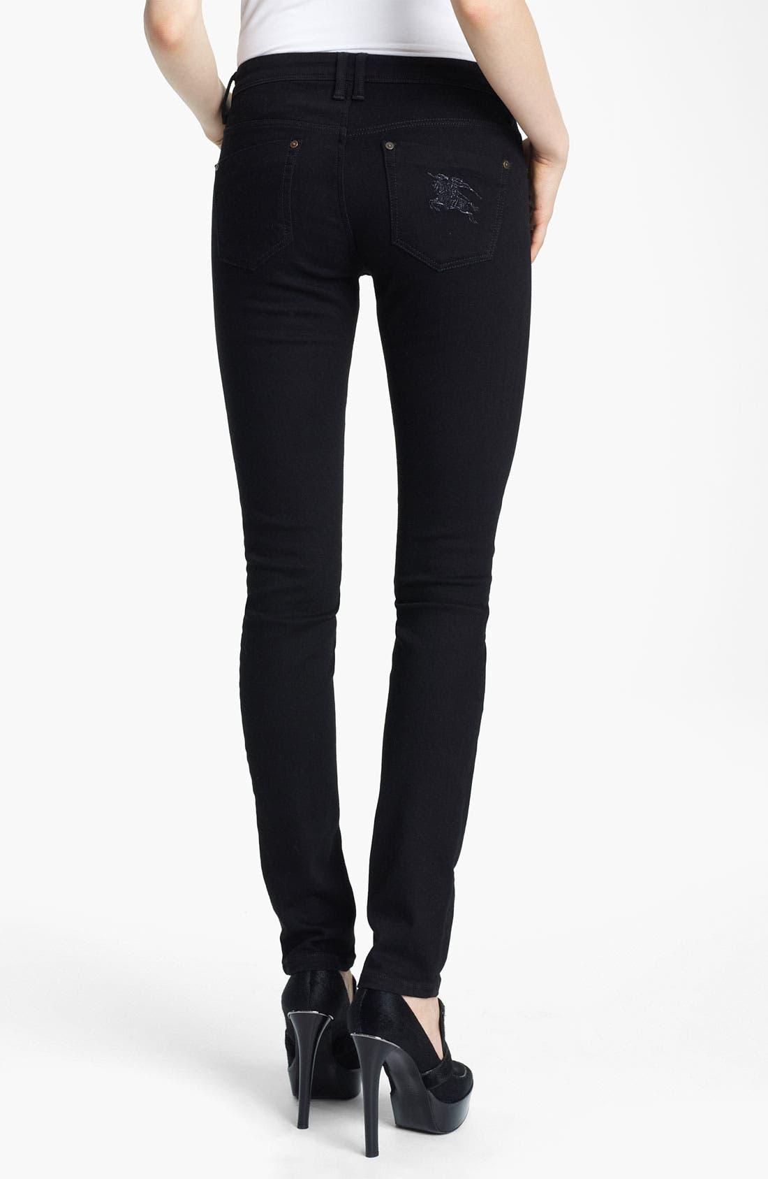 Alternate Image 2  - Burberry Brit Skinny Jeans