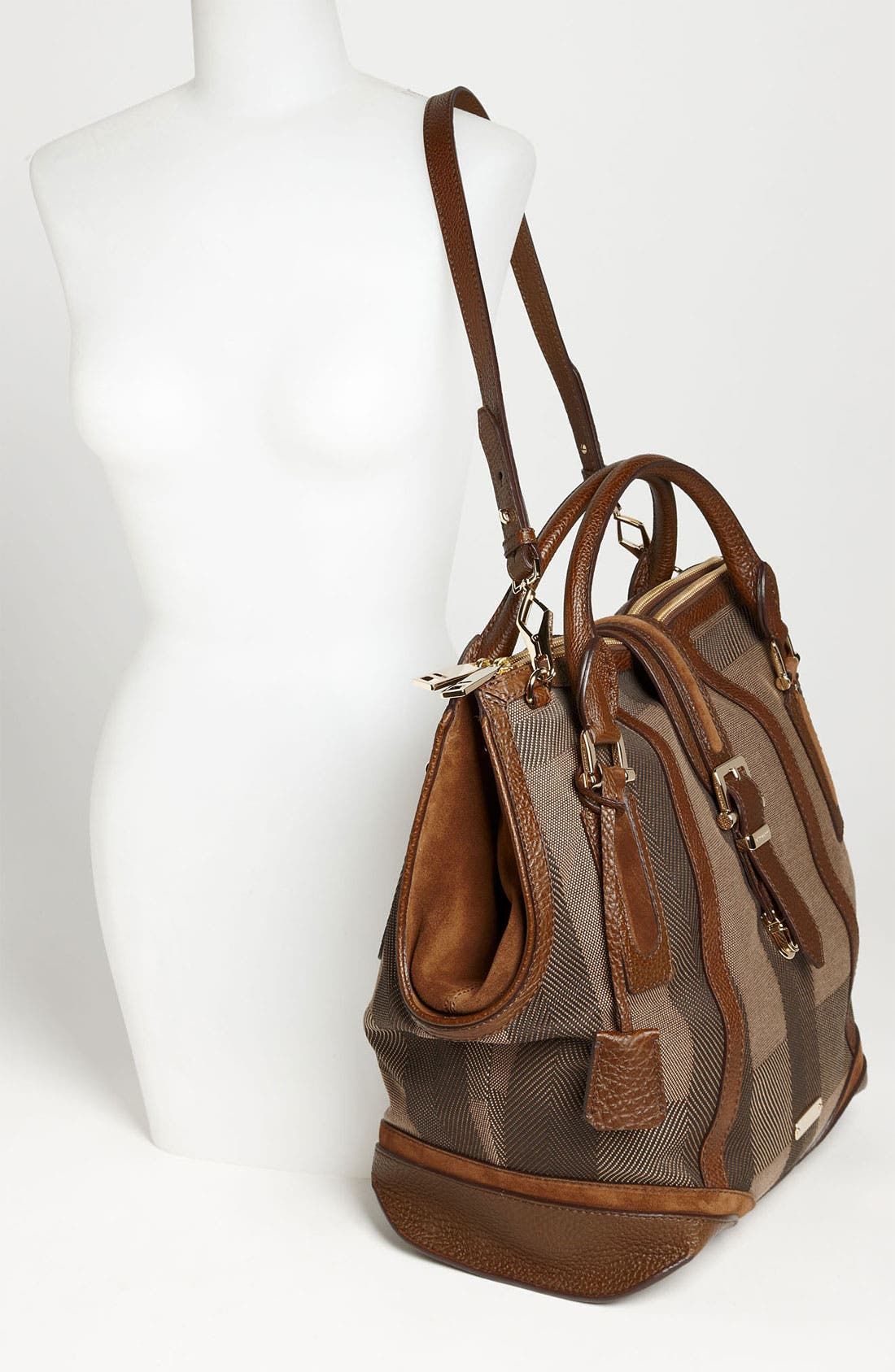 Alternate Image 2  - Burberry Canvas Jacquard Tote