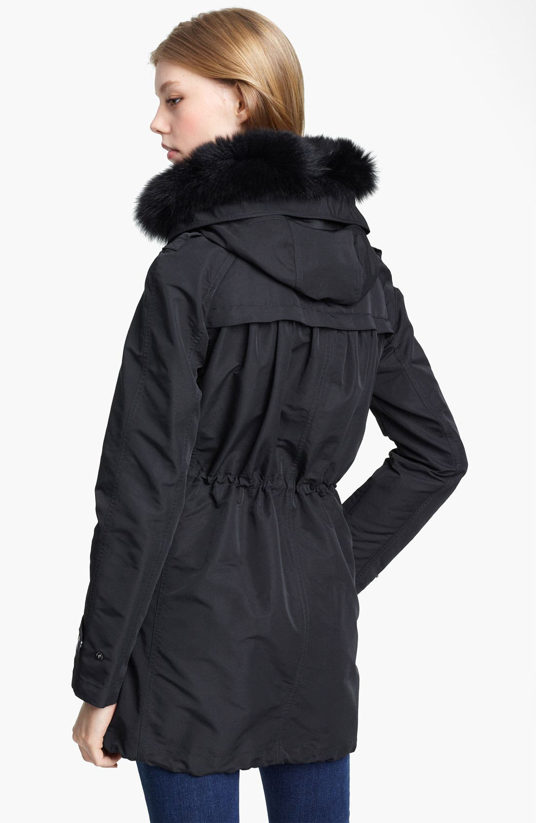Alternate Image 2  - Burberry Brit Genuine Fox Fur Trim Hooded Anorak