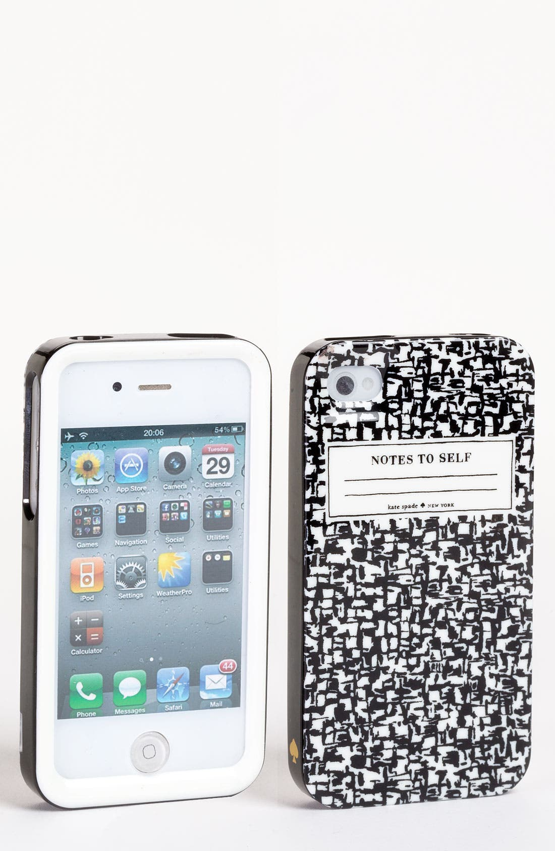 Main Image - kate spade new york 'composition notebook' iPhone 4 & 4S case