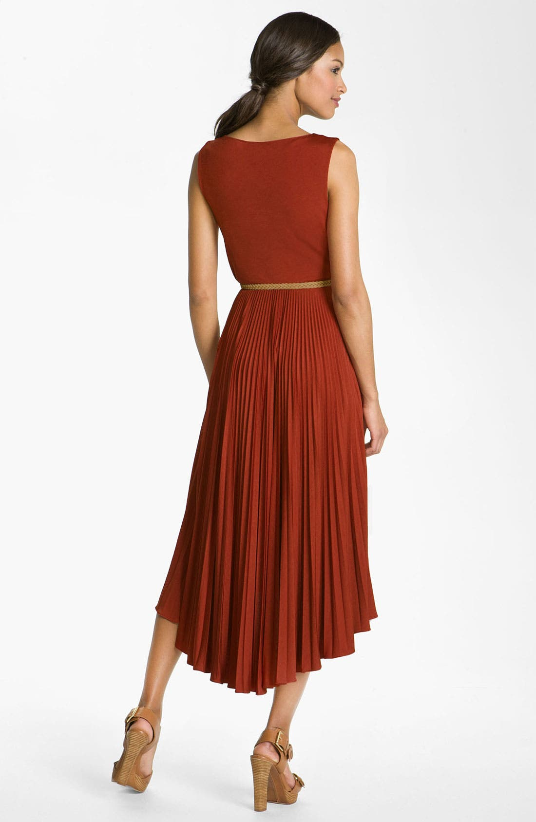 Alternate Image 3  - Suzi Chin for Maggy Boutique Pleated Jersey Dress