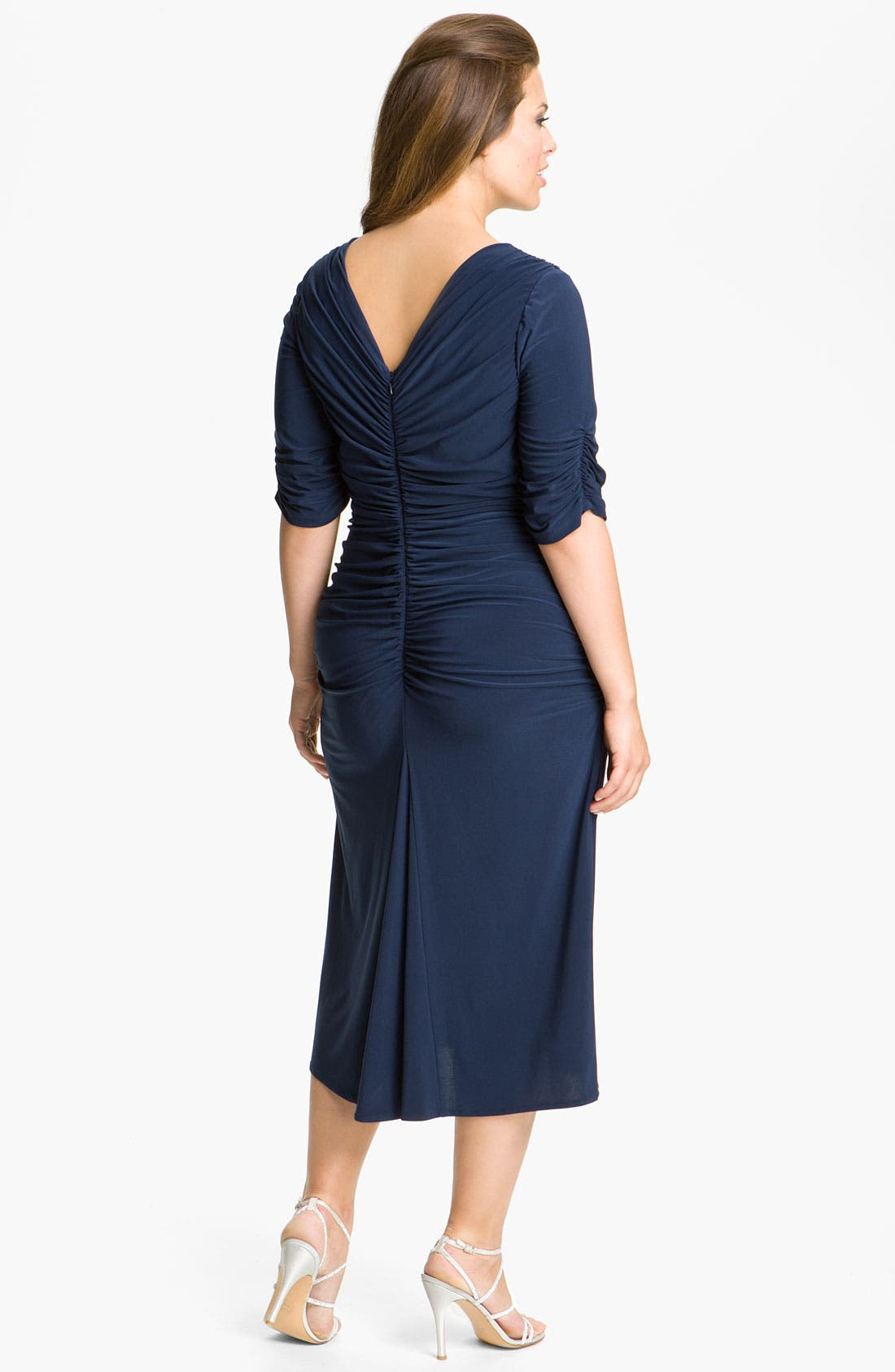 Alternate Image 2  - Alex Evenings Jeweled Ruched Jersey Dress (Plus)