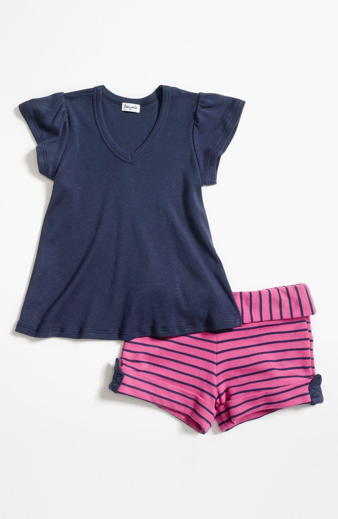 Alternate Image 1 Selected - Splendid Stripe Shirt & Shorts (Toddler)