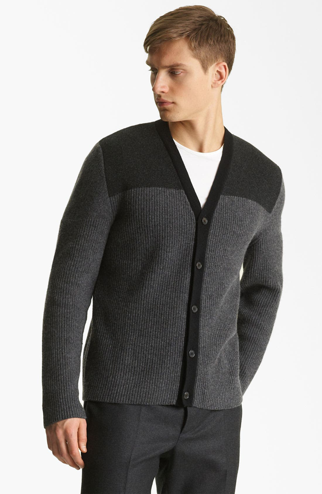 Alternate Image 1 Selected - Marni Two Tone Wool & Cashmere Cardigan