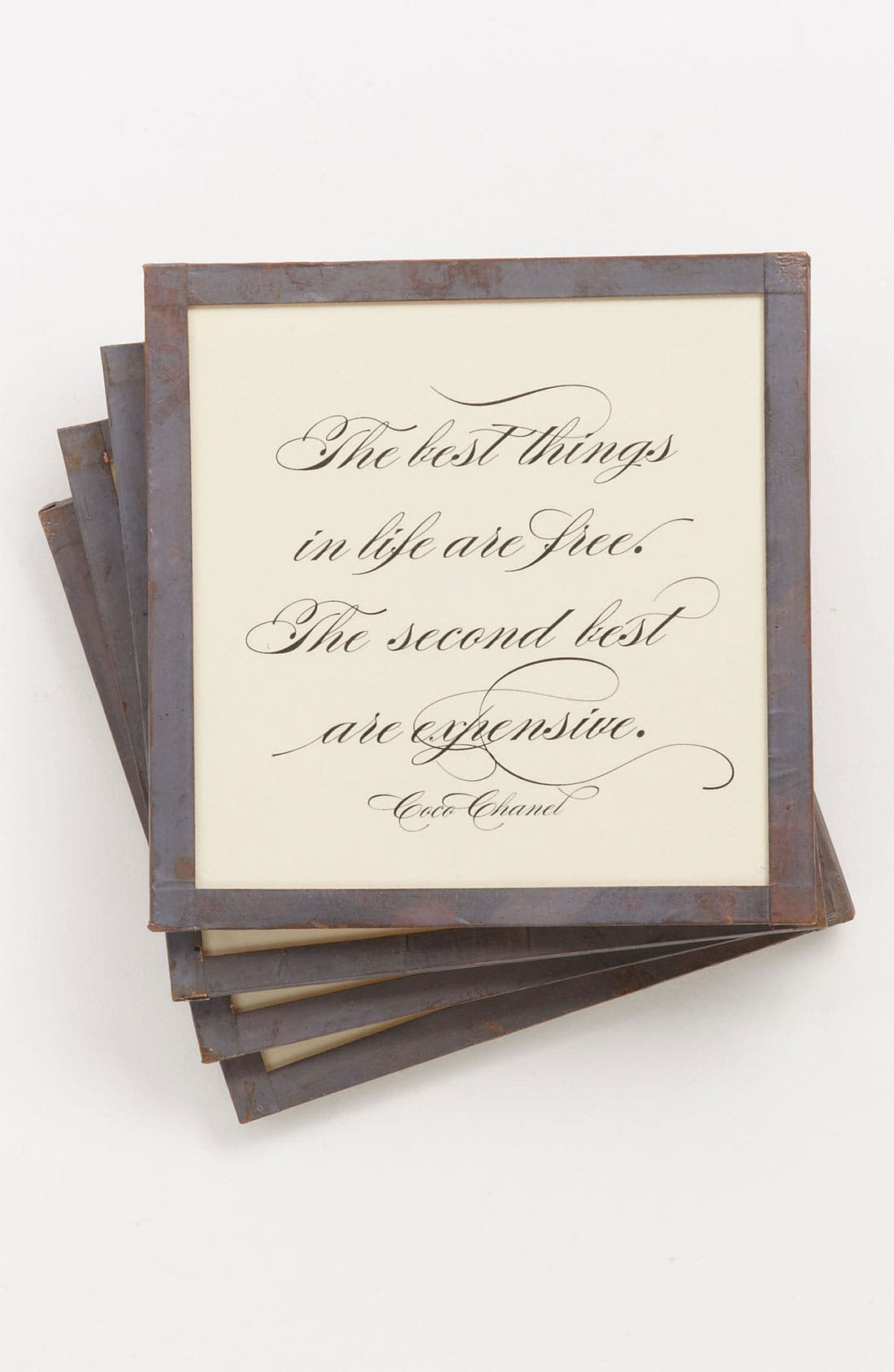 Main Image - Ben's Garden 'The Best Things in Life' Coaster Set