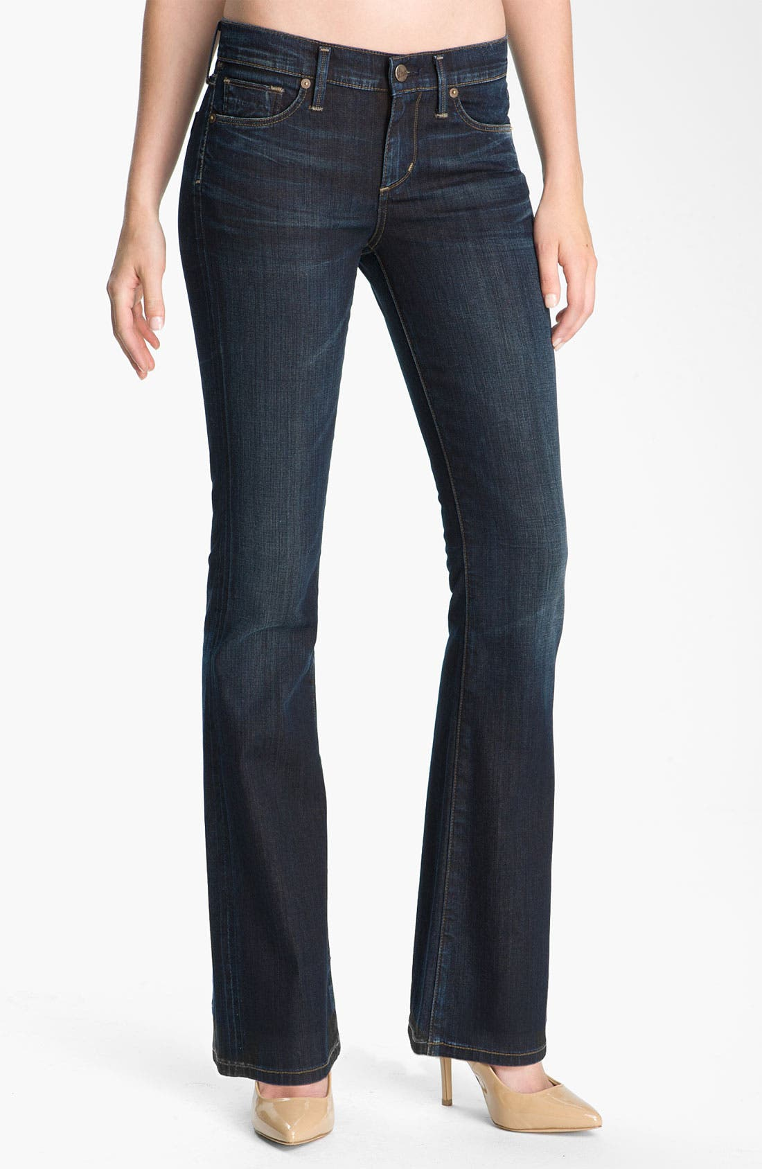 Alternate Image 1 Selected - Citizens of Humanity 'Dita' Bootcut Jeans (Felt Dark Blue) (Petite)