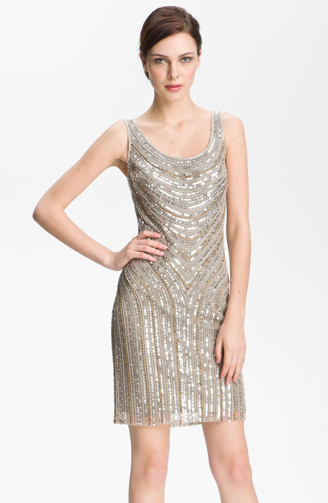 Main Image - Pisarro Nights Embellished Scoop Neck Dress