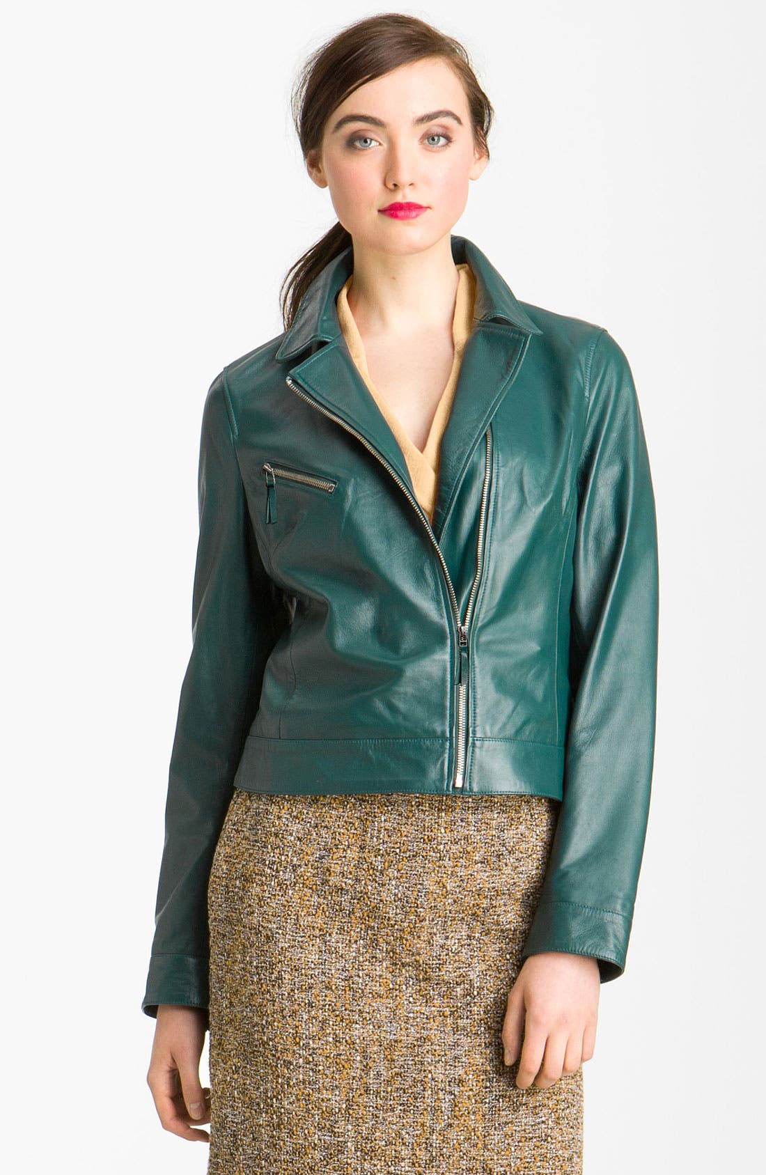 Main Image - John Carlisle Leather Moto Jacket