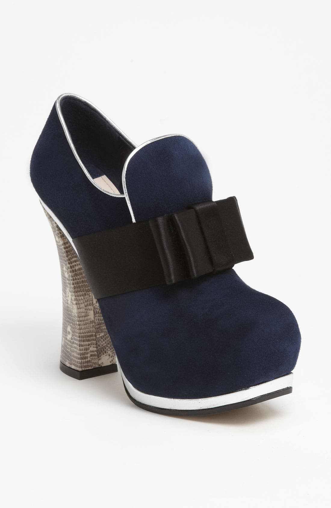Alternate Image 1 Selected - Miu Miu Bow Front Platform Bootie