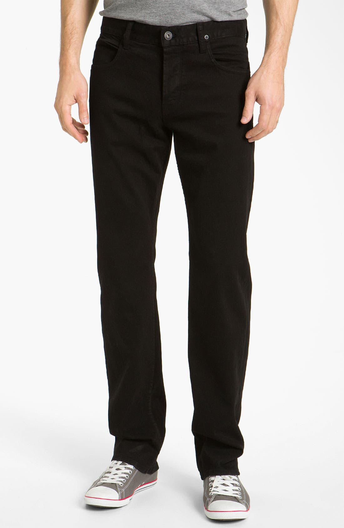 Alternate Image 2  - Hudson Jeans 'Buckley Athletic' Straight Leg Jeans (Jet Black)
