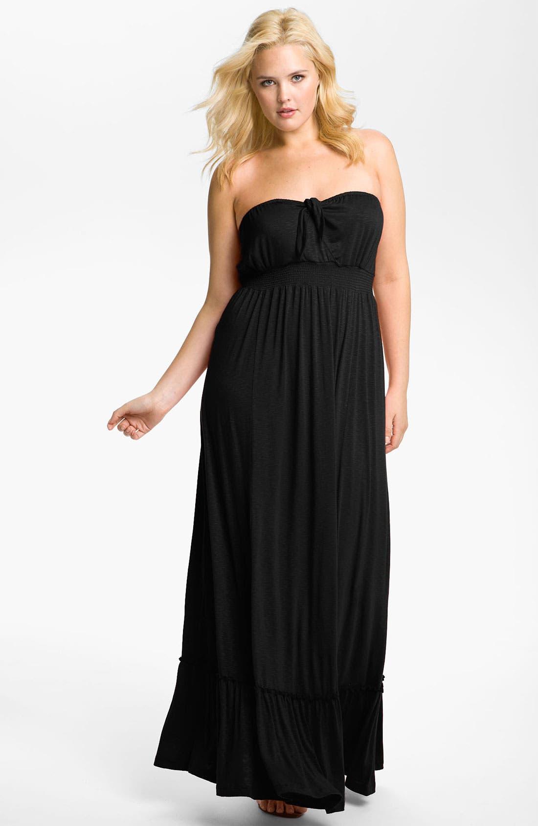 Main Image - Bellatrix Strapless Maxi Dress (Plus)