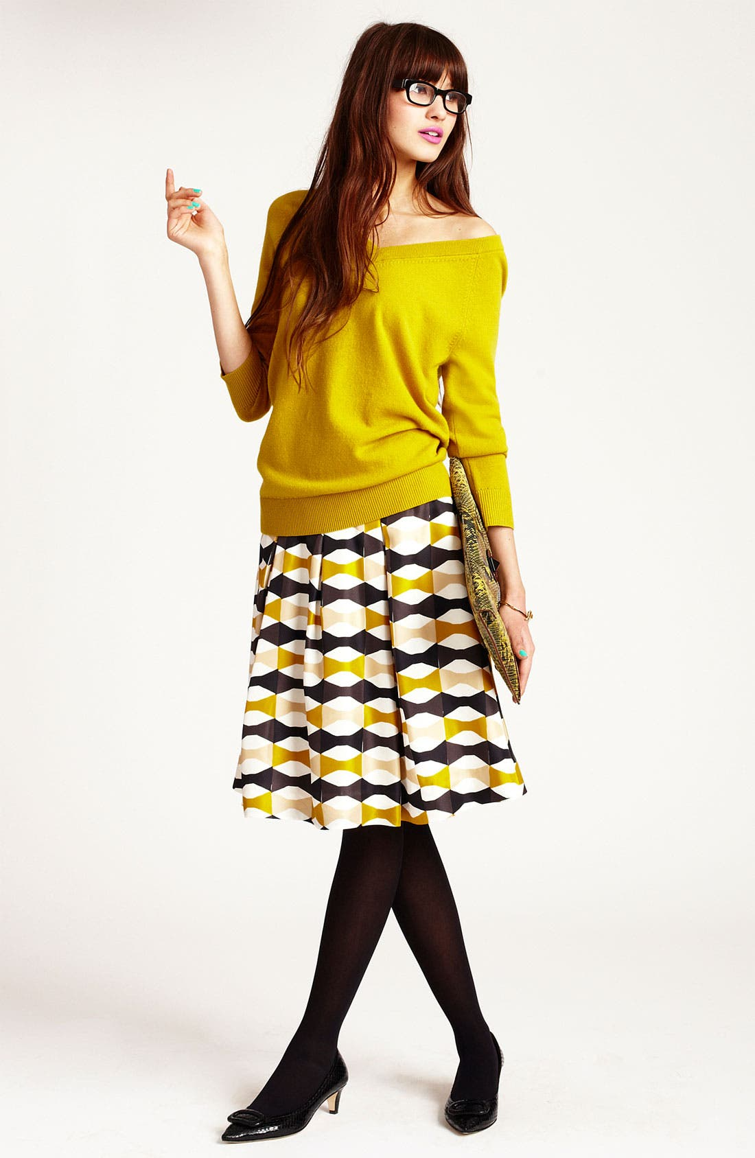 Main Image - kate spade new york sweater & skirt