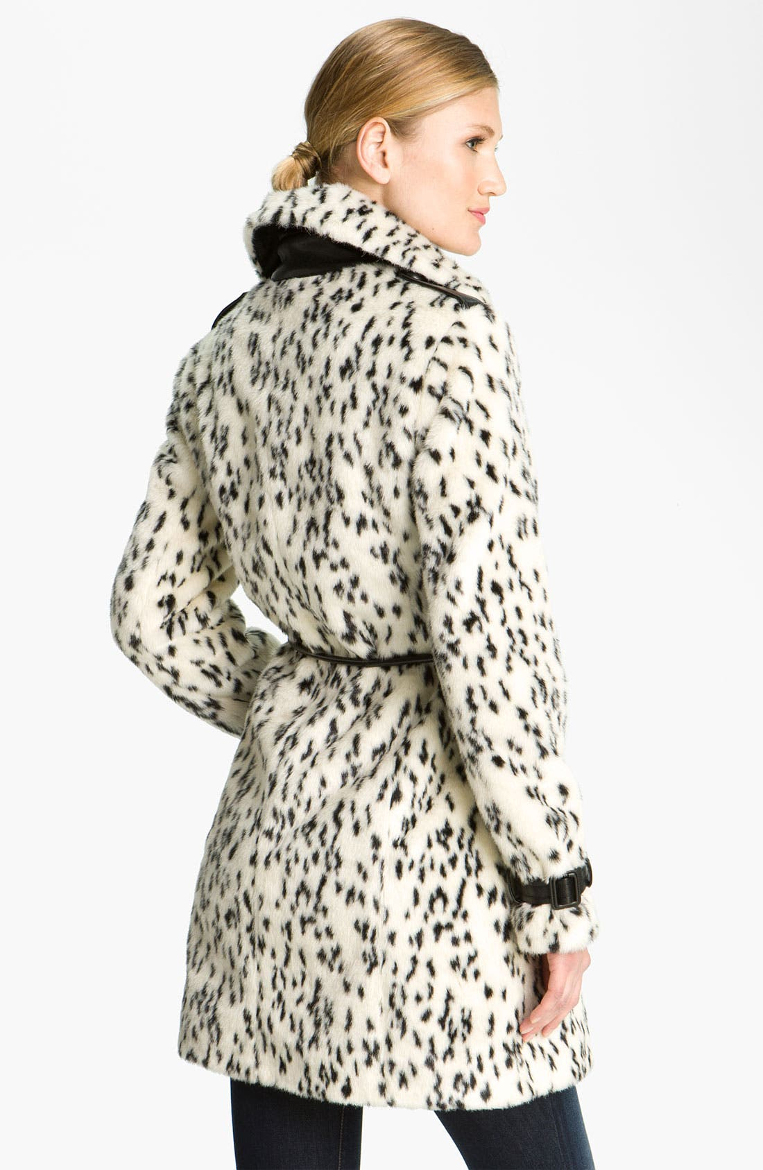 Alternate Image 2  - Via Spiga Spotted Faux Fur Coat