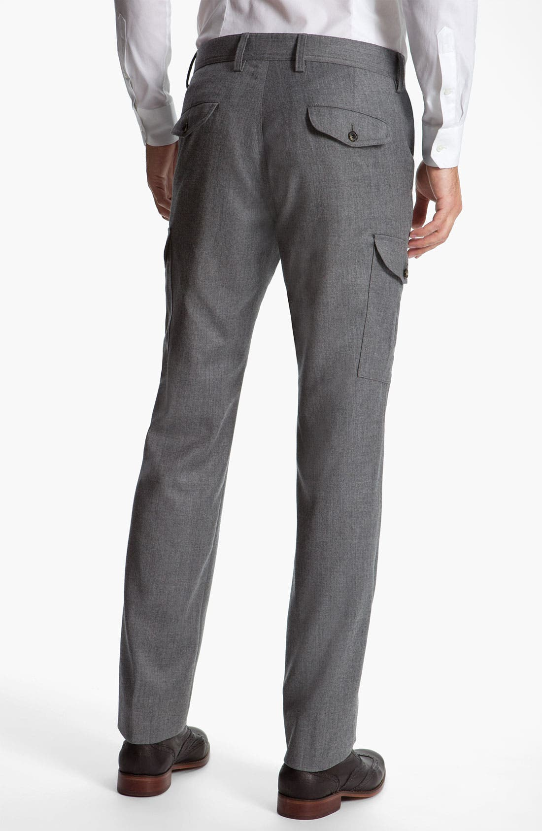 Alternate Image 2  - BOSS Black 'Trap' Wool Cargo Pants