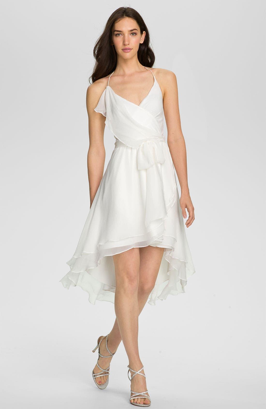 Alternate Image 1 Selected - Alexia Admor Draped Chiffon Halter Dress