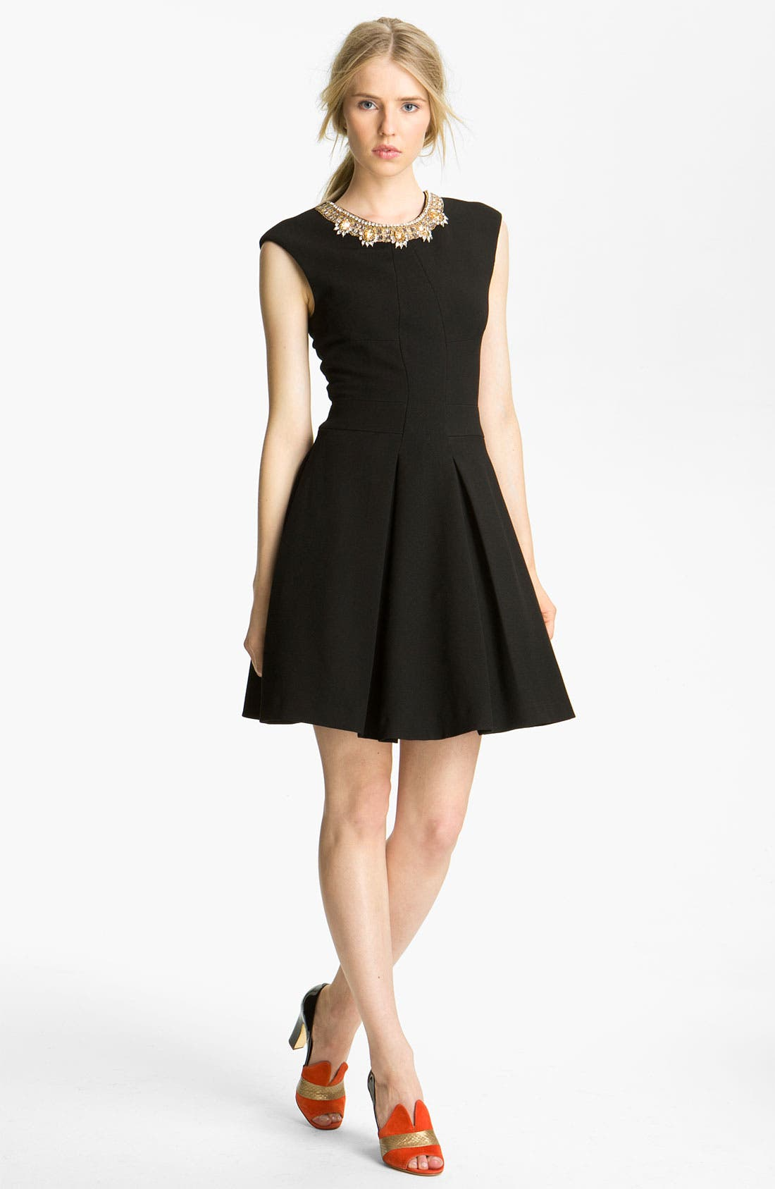 Main Image - Tracy Reese 'Couture Cloth' Embellished Neck Dress