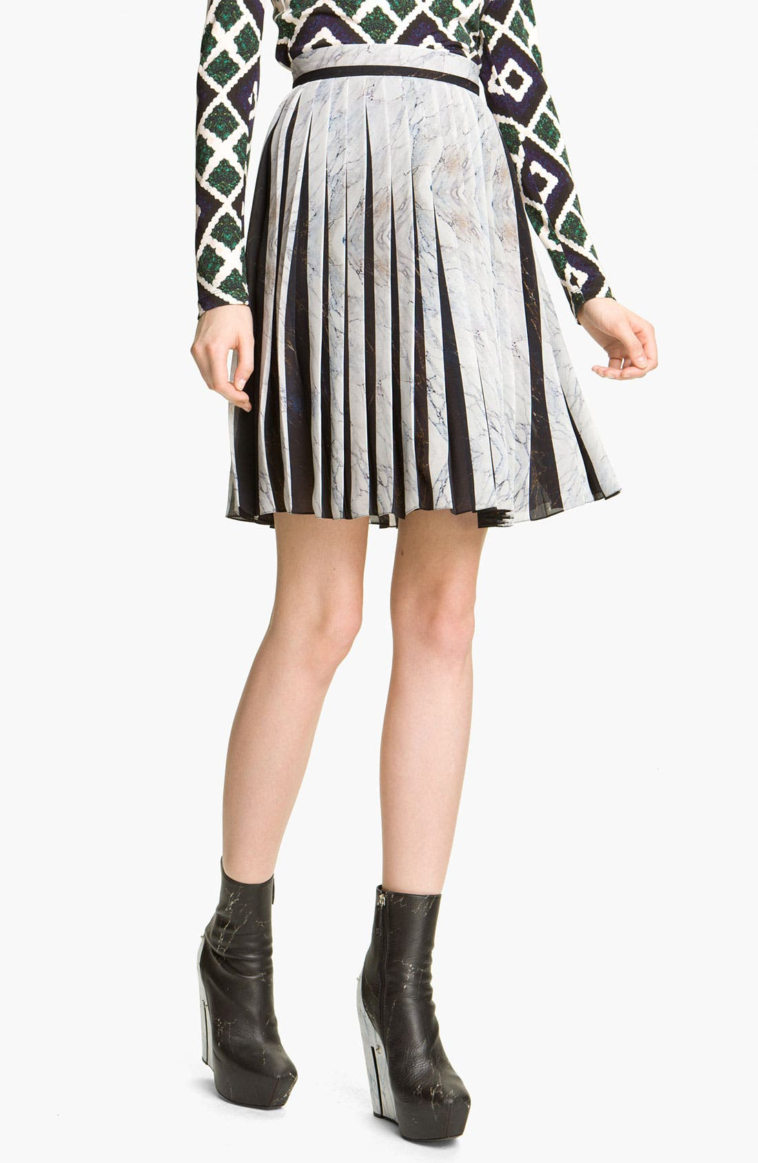 Alternate Image 1 Selected - KENZO Pleated Georgette Skirt