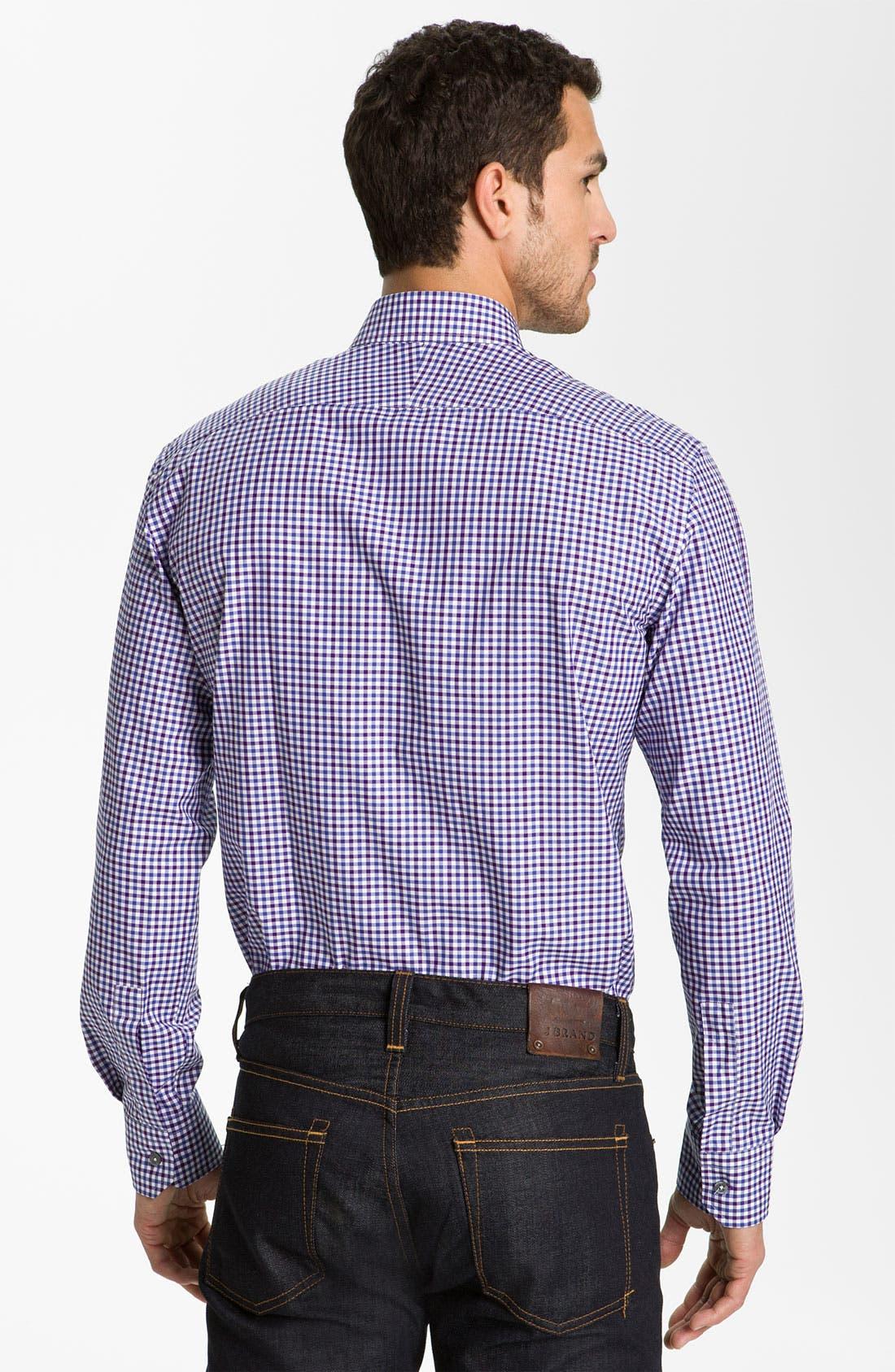 Alternate Image 2  - Paul Smith London Trim Fit Gingham Check Dress Shirt