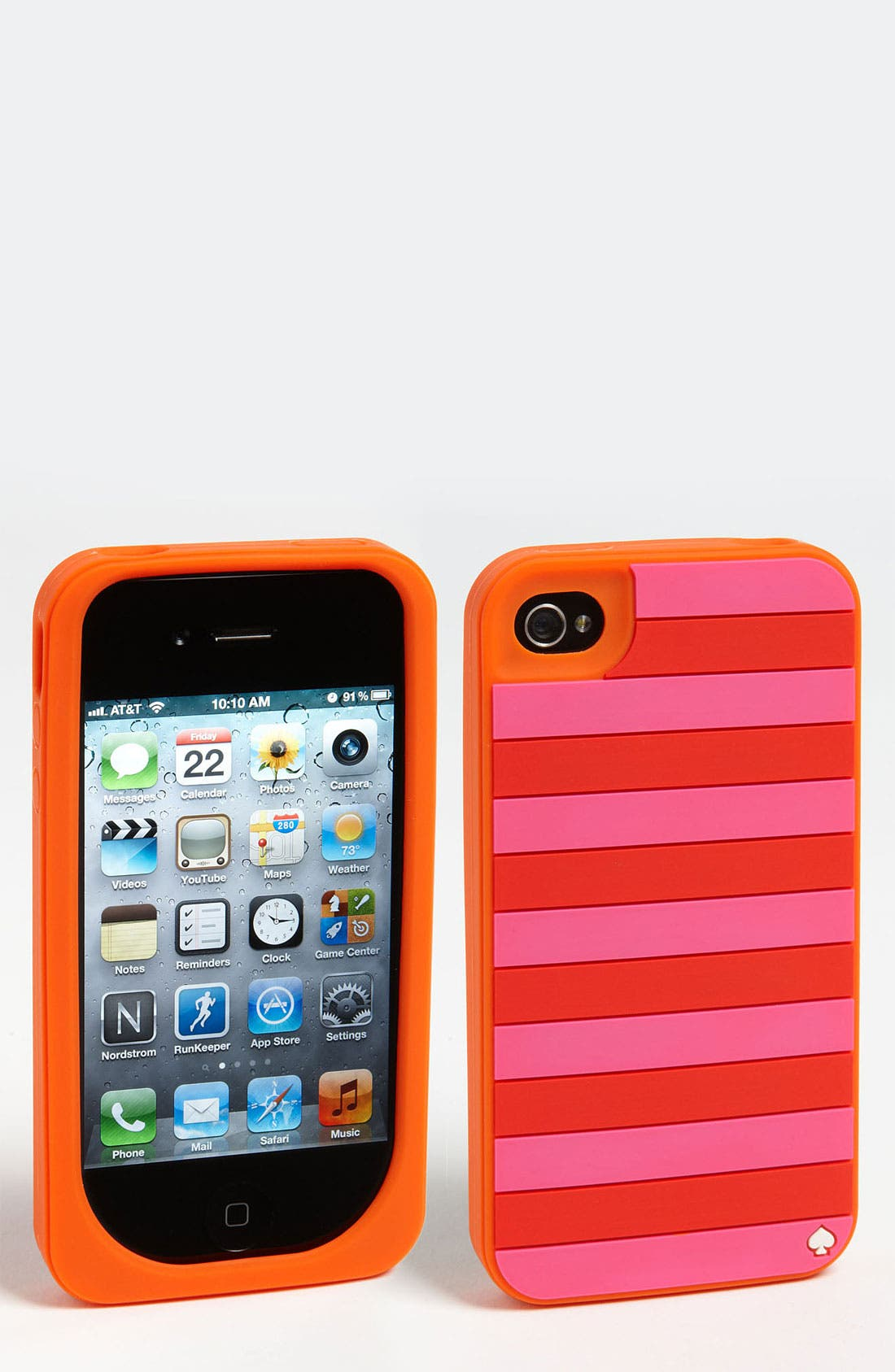 Alternate Image 1 Selected - kate spade new york 'candy stripes' iPhone 4 & 4S case