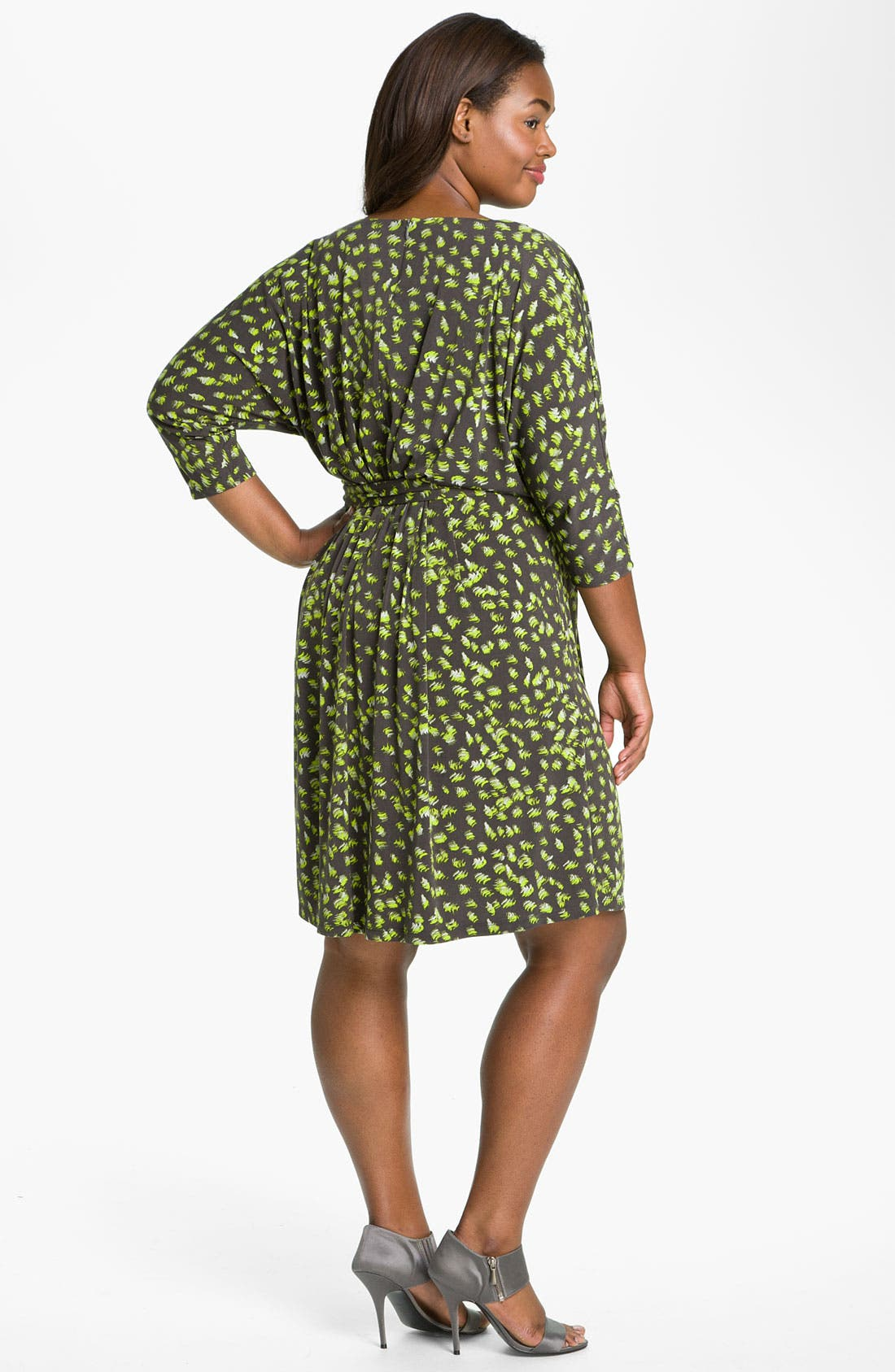 Alternate Image 5  - Suzi Chin for Maggy Boutique Tie Front Print Dress (Plus)