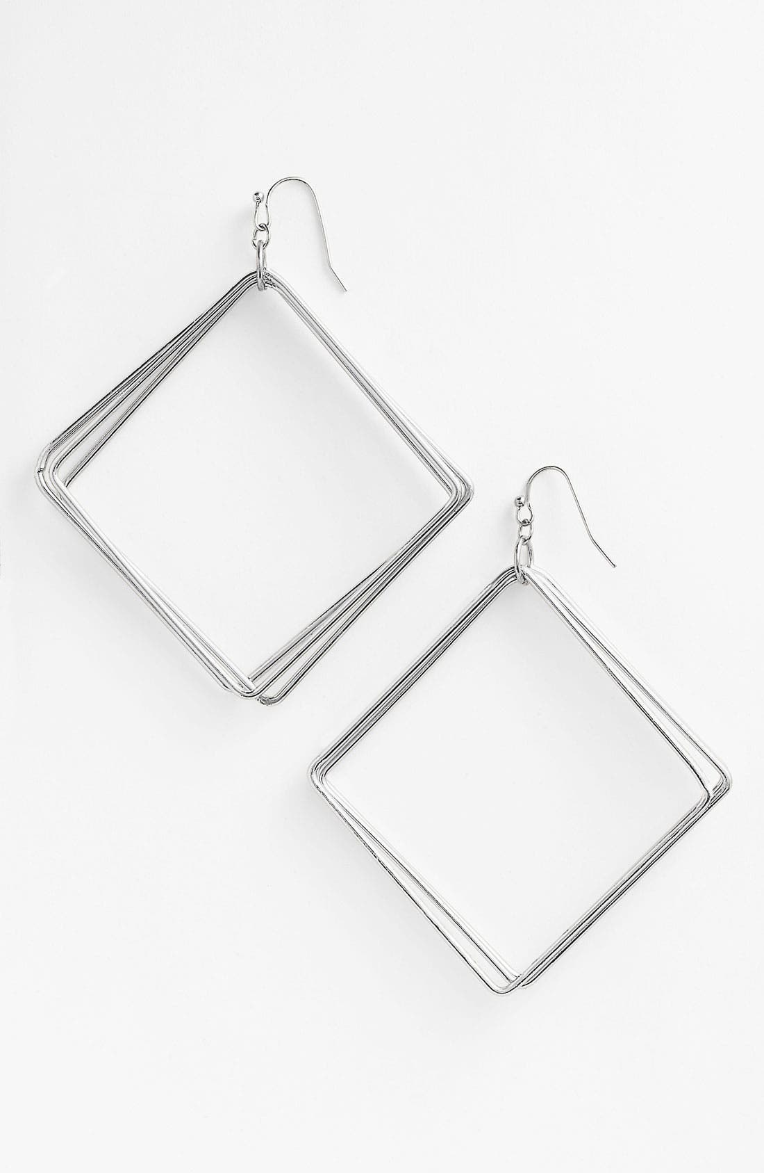 Alternate Image 1 Selected - Guinevere Multi Square Metal Earrings