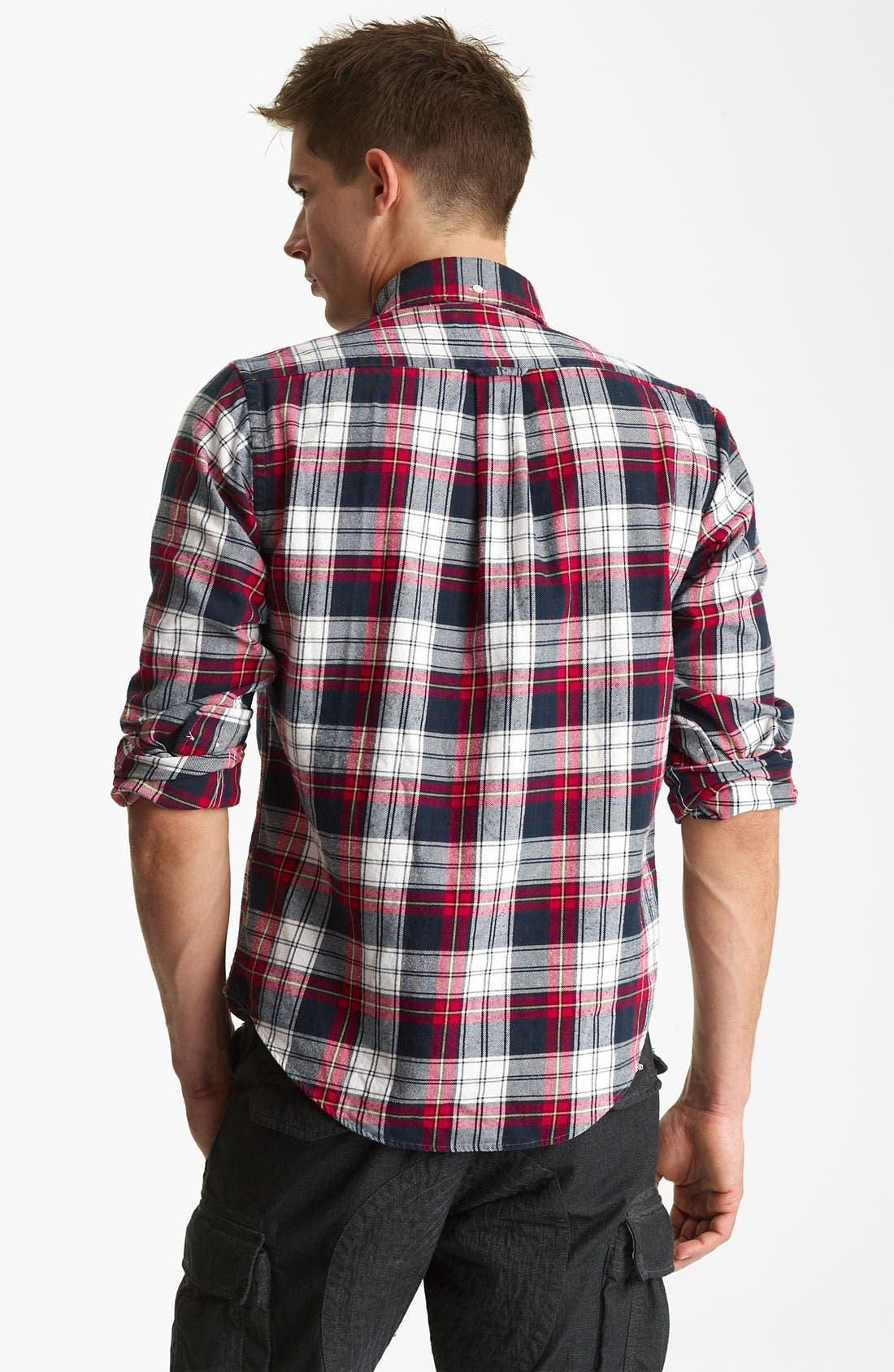Alternate Image 2  - Gant by Michael Bastian Cotton Flannel Shirt
