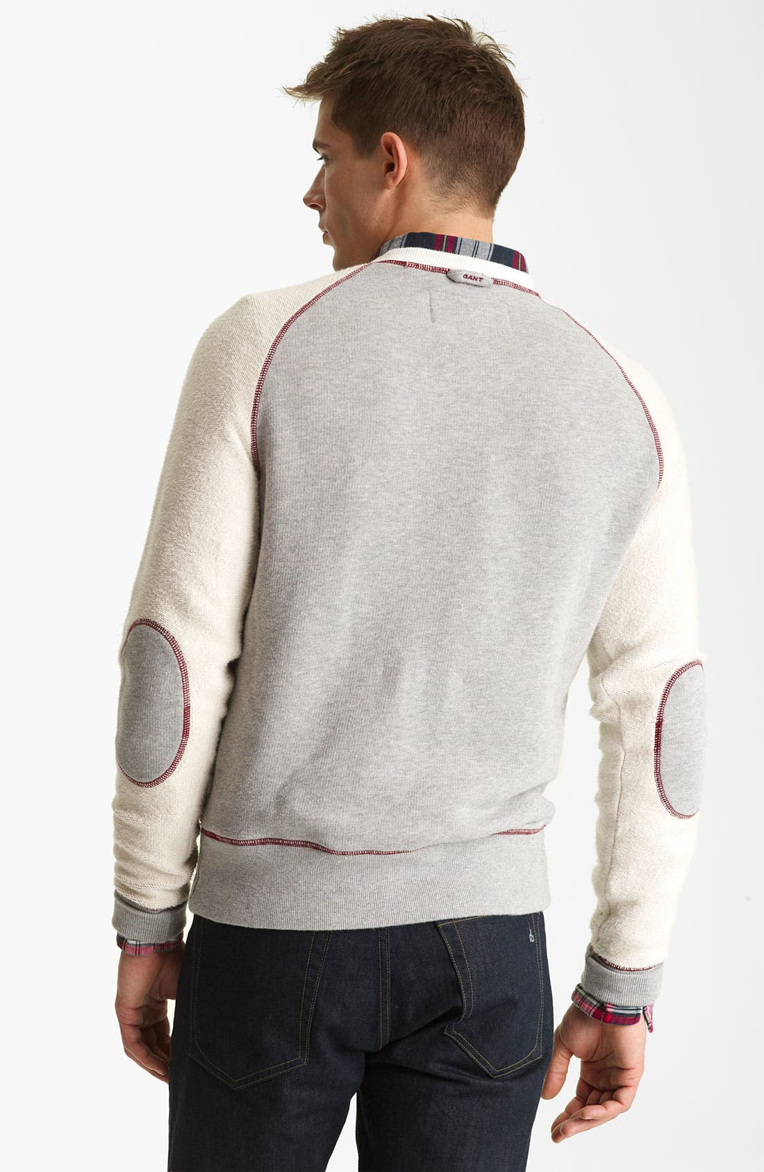 Alternate Image 2  - Gant by Michael Bastian Knit Crewneck Sweatshirt