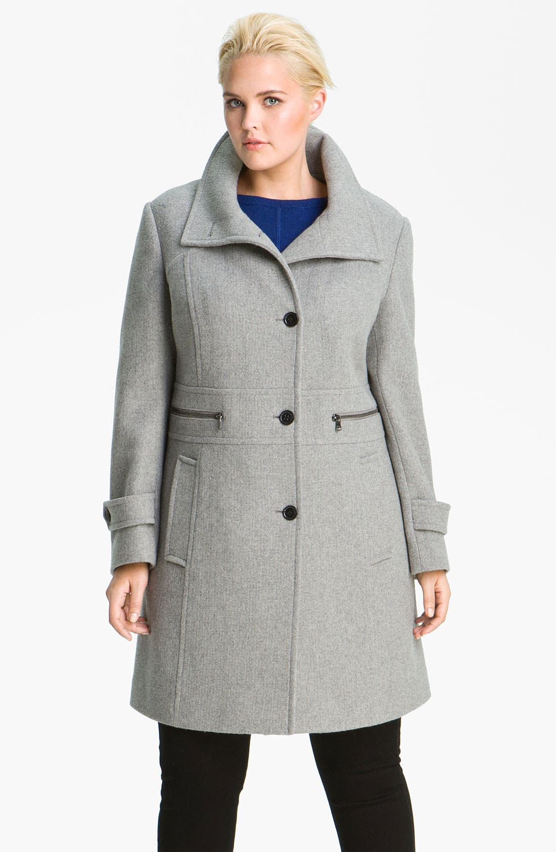 Main Image - Marc New York by Andrew Marc 'Abby' Walking Coat (Plus)