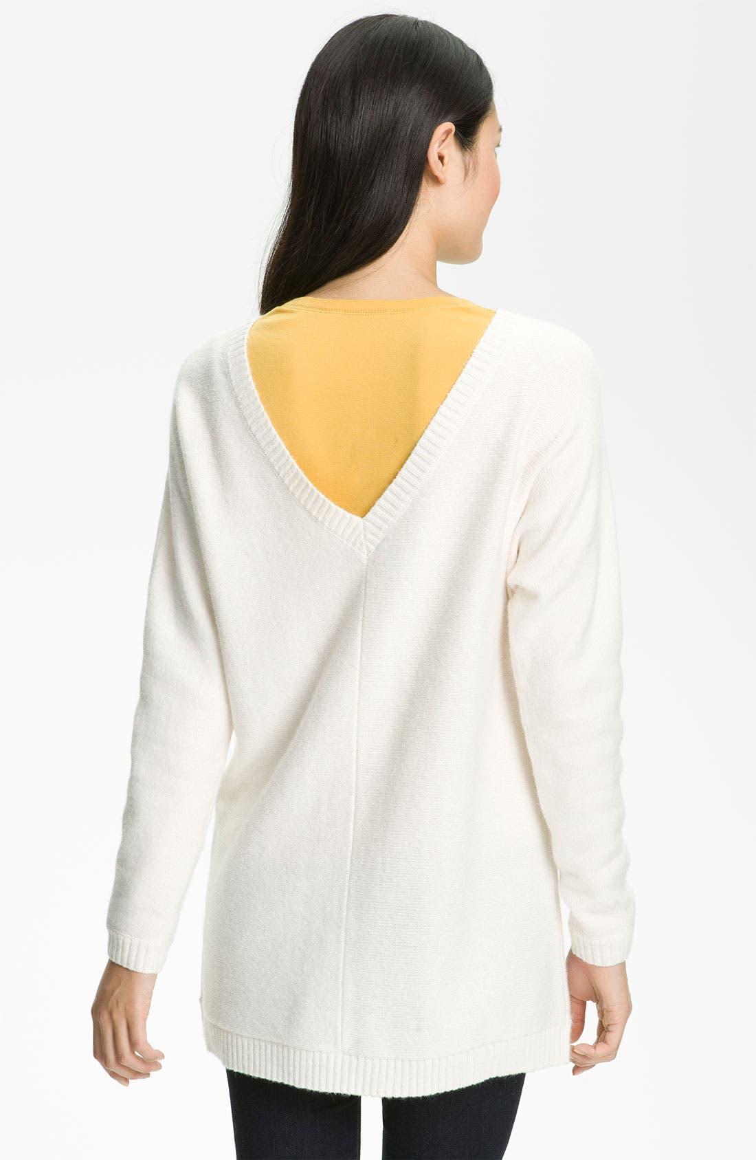 Main Image - Caslon® V-Neck Tunic Sweater